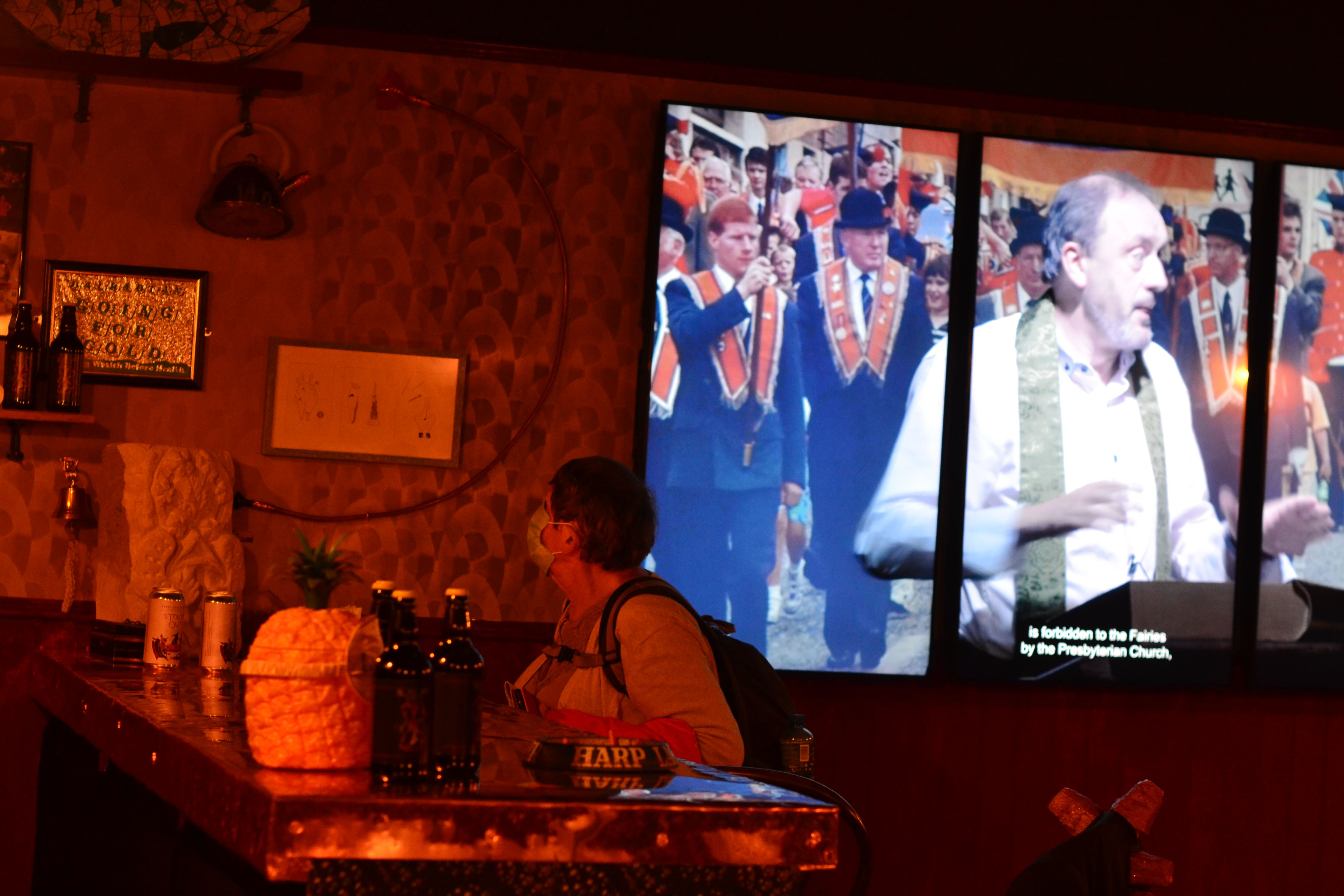 WHAT'LL IT BE? The Array Collective Turner Prize entry presents a selection of images and ideas in a Belfast pub setting