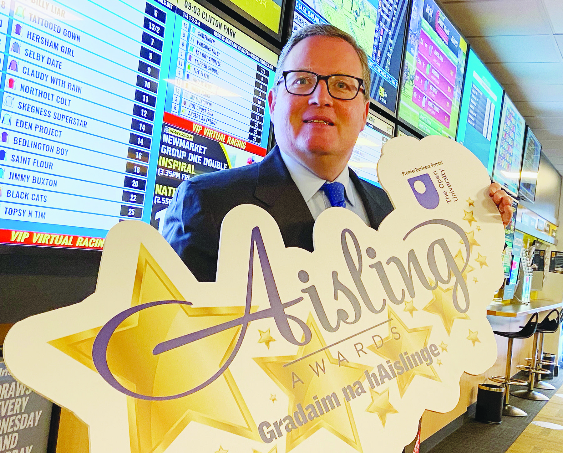 Brian Graham from Sean Graham Bookmakers who will once again sponsor the Aisling Sports Award