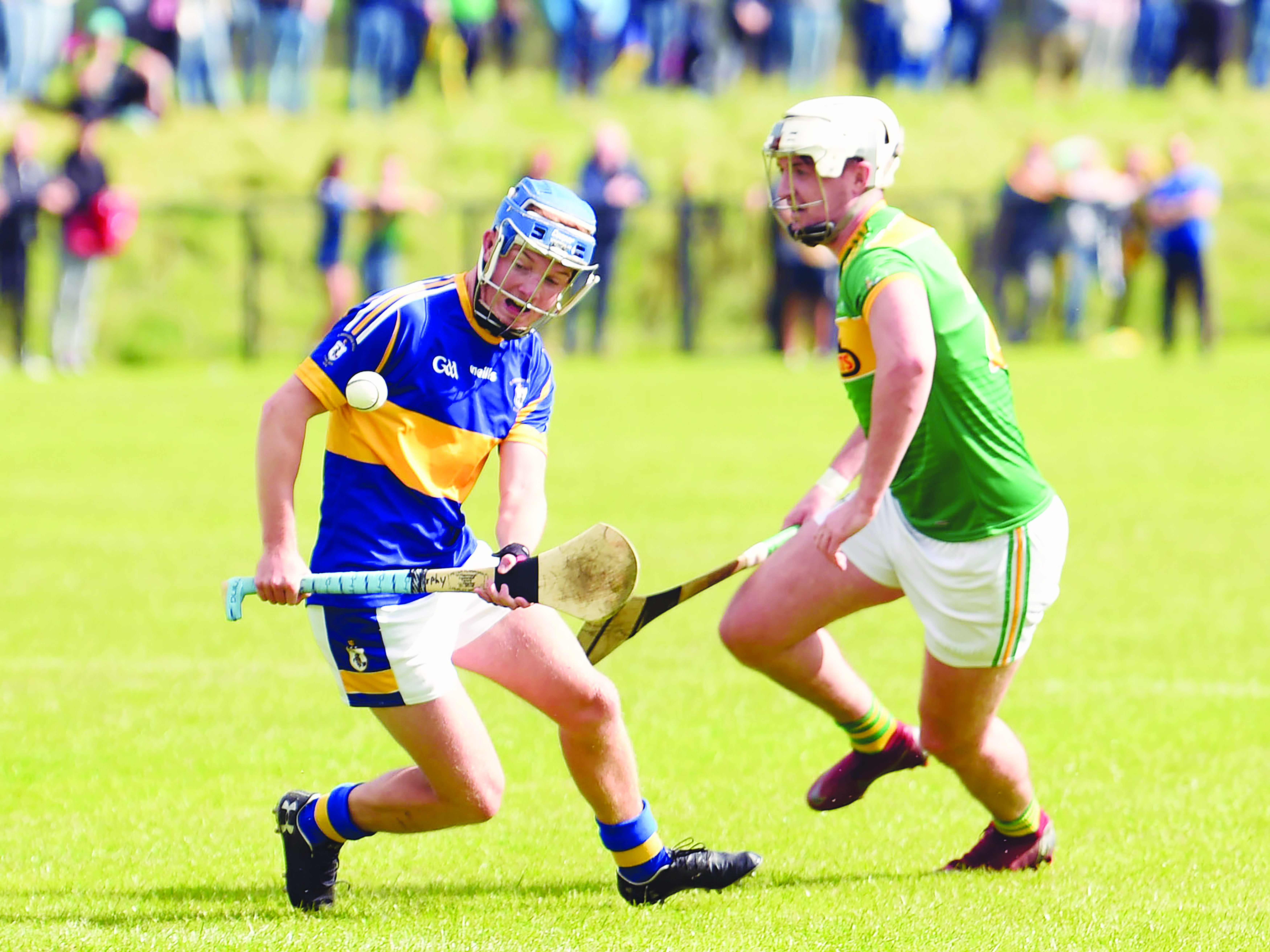 Tiernan Murphy and Conor McKinley came into close contact during last year's semi-final when Dunloy snatched a last-gasp win over Ross. The sides lock horns again this Sunday with the Volunteer Cup up for grabs