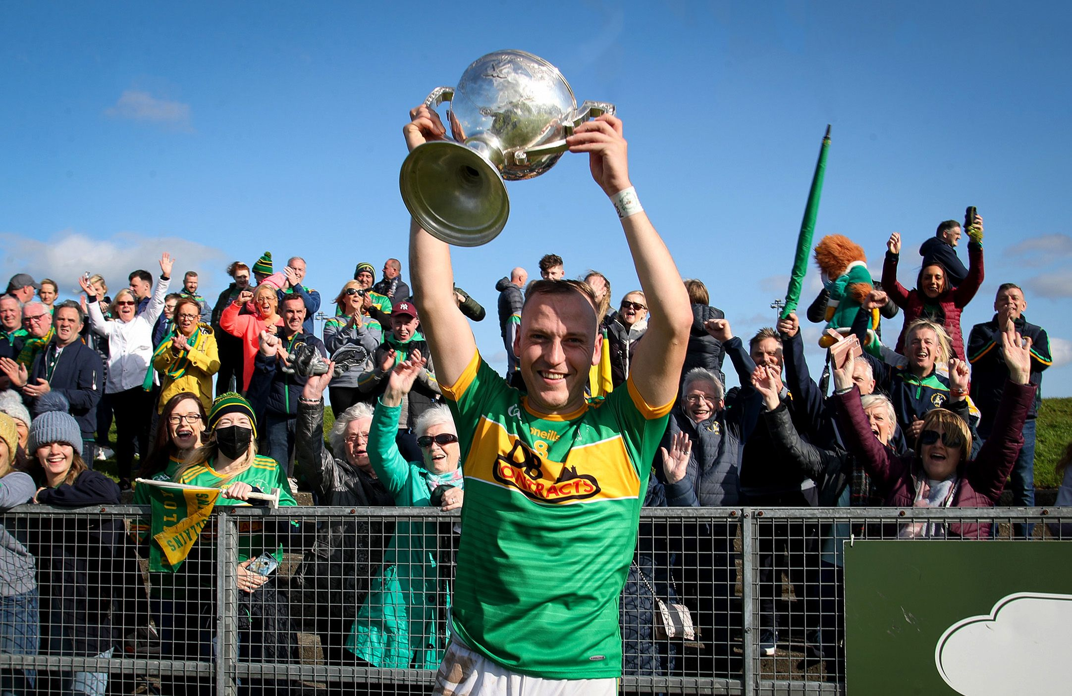 Paul Shiels lifted the Volunteer Cup again last year when Dunloy defeated Loughgiel in the final and will be hoping to do so again this Sunday when the Cuchullains take on Rossa