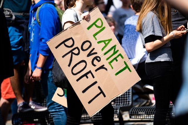 DEMANDING AN END TO \'BLAH, BLAH, BLAH\': Climate change protester