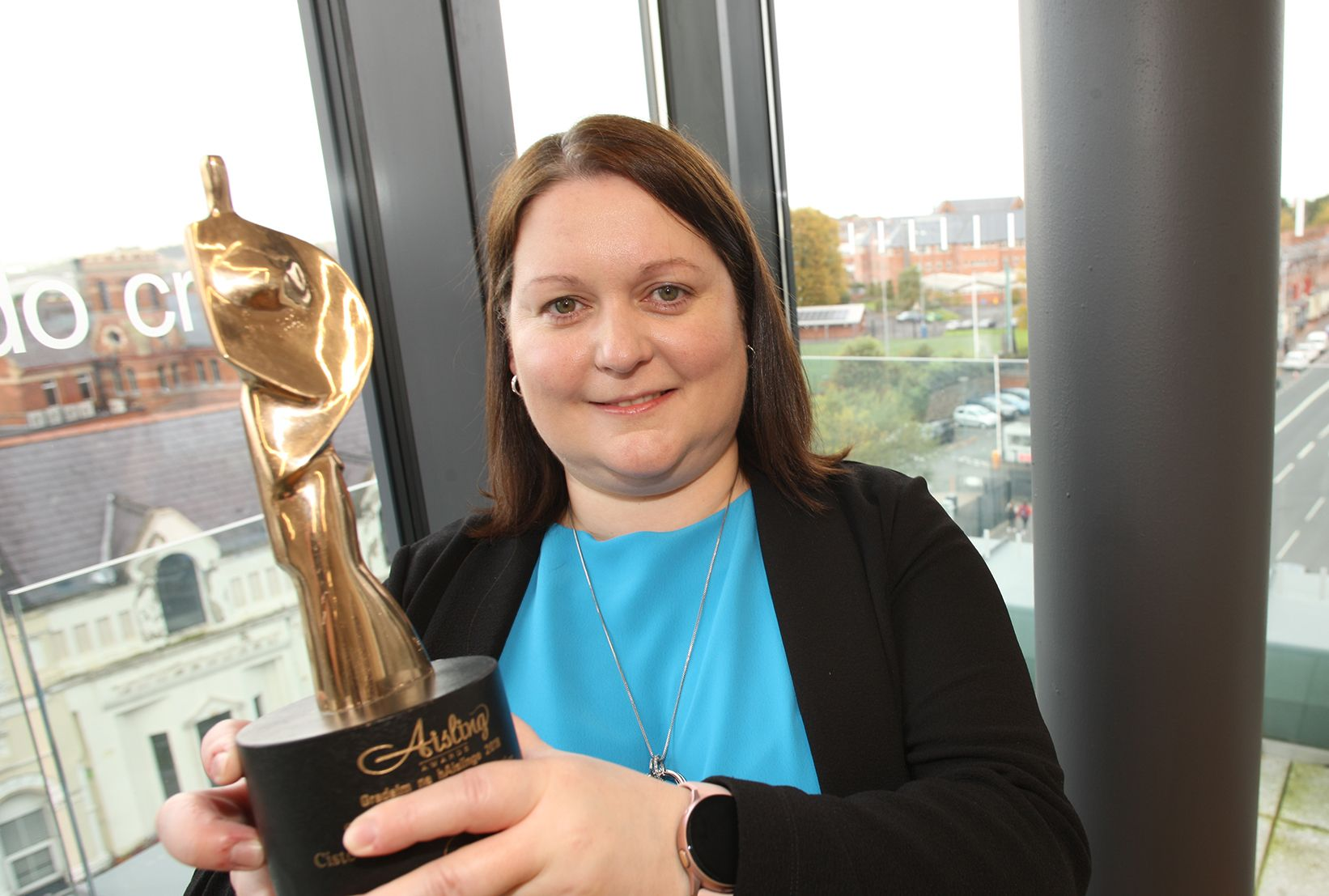 IRISH LANGUAGE CHAMPIONS IN AISLING SPOTLIGHT: Edel Ní Chorráin from Foras na Gaeilge which is sponsoring the 2021 Aisling gala.