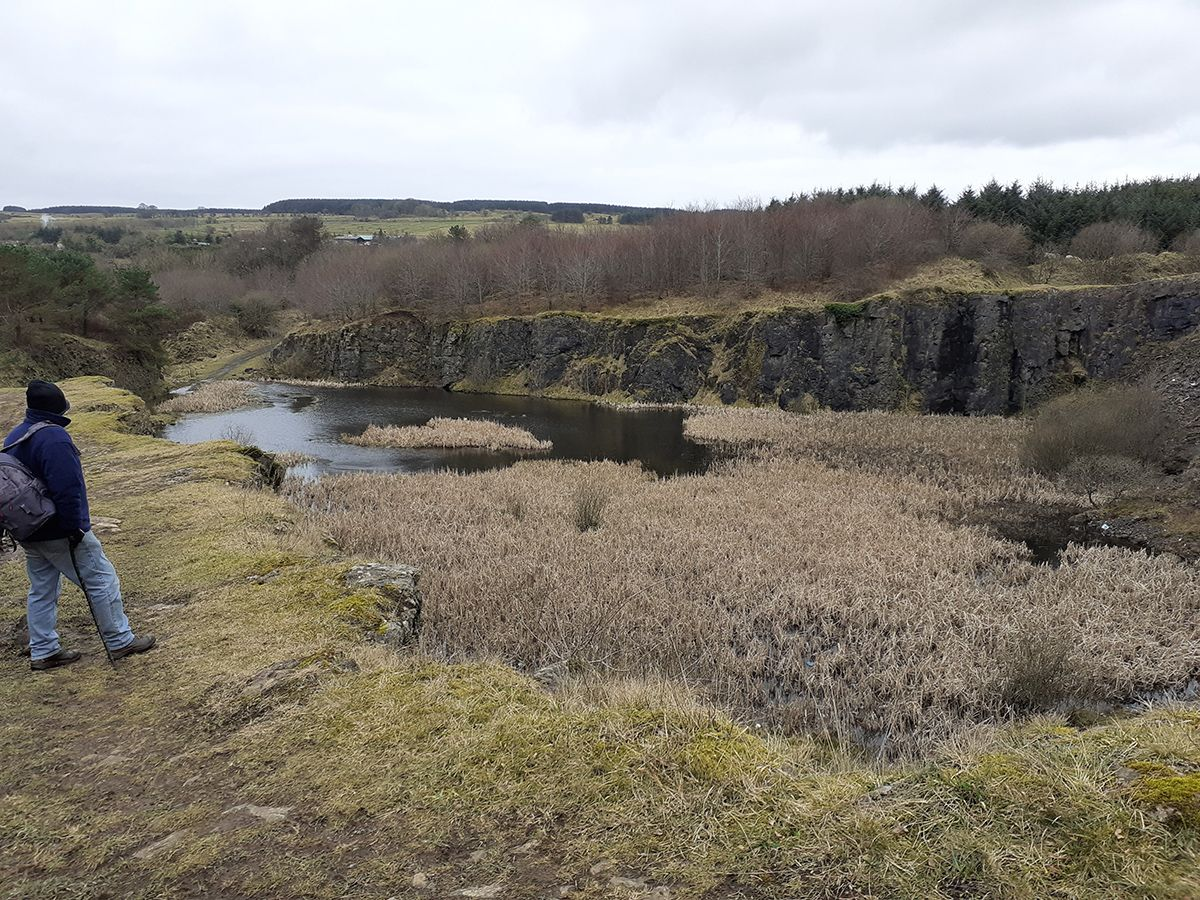 WATER WORLD: The old quarry on the mountain that was abandoned and has since been reclaimed by nature