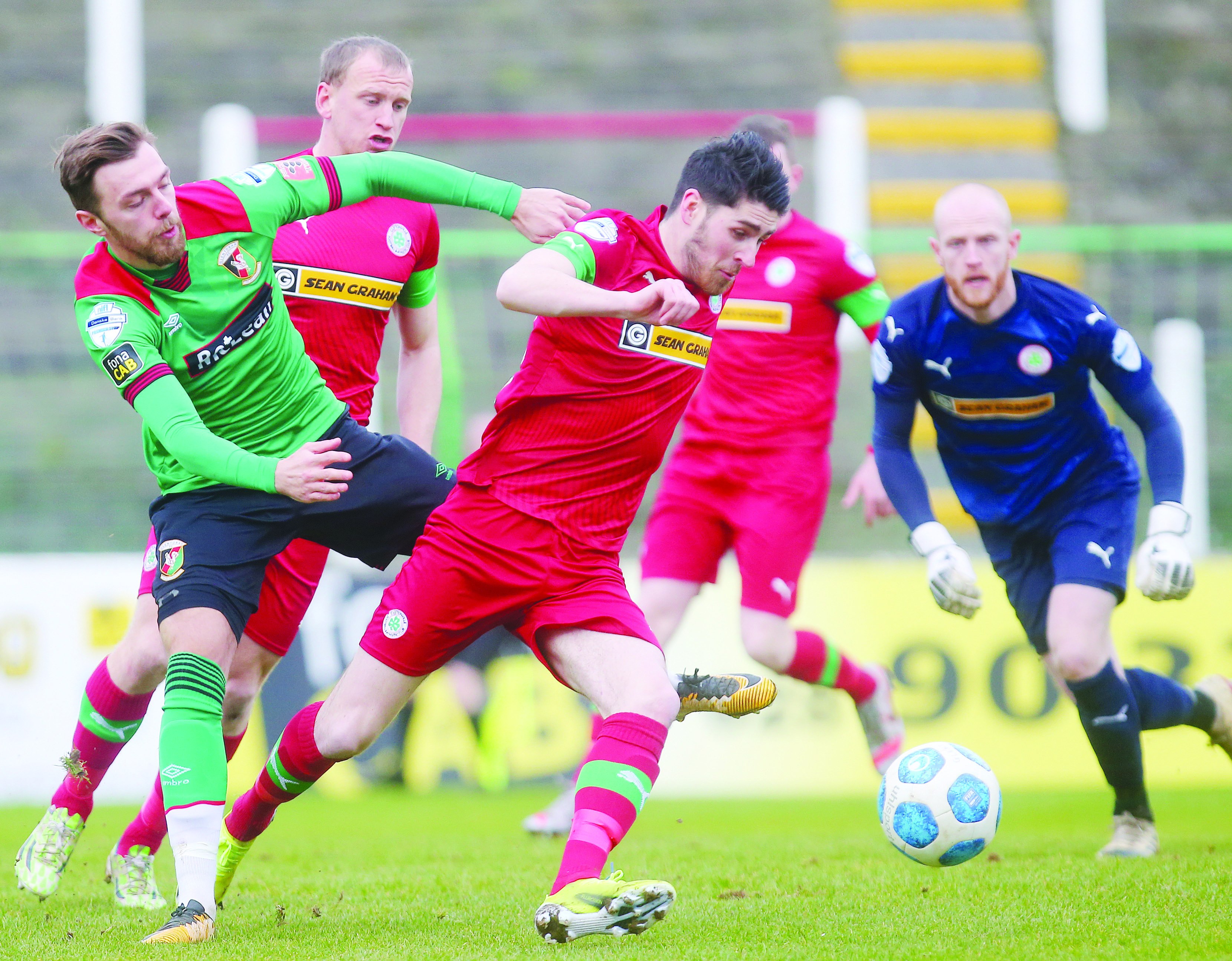 Cliftonville manager Paddy McLaughlin has been impressed by the recent performances of Kris Lowe