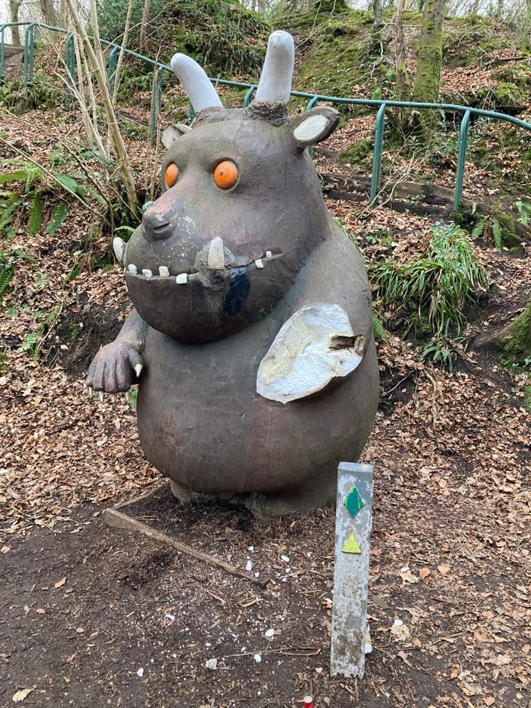ATTRACTION: The badly damaged Gruffalo in Colin Glen Forest Park