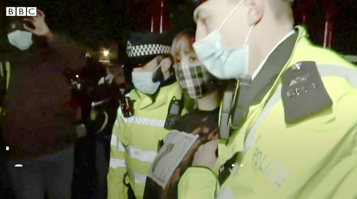 DARK NIGHT: The Met Police moved in at a Clapham  demo protesting the murder of Sarah Everard