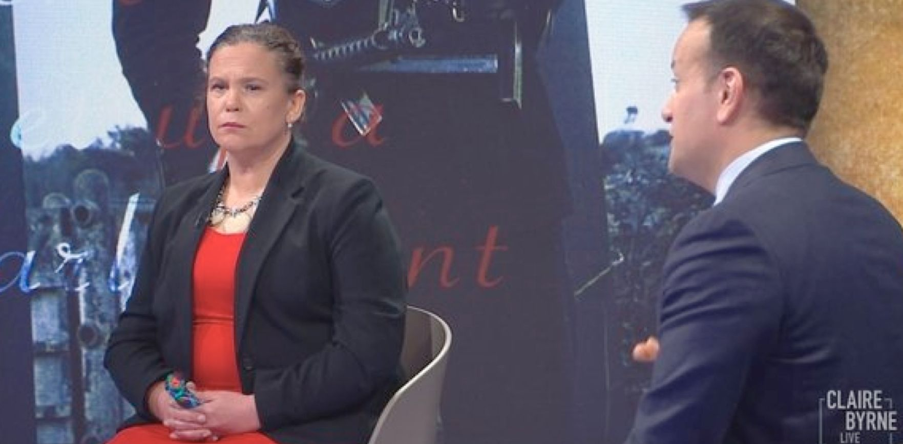 DEBATE: Leader of the opposition Mary Lou McDonald and Tánaiste Leo Varadkar on Claire Byrne Live discussing Irish unity.