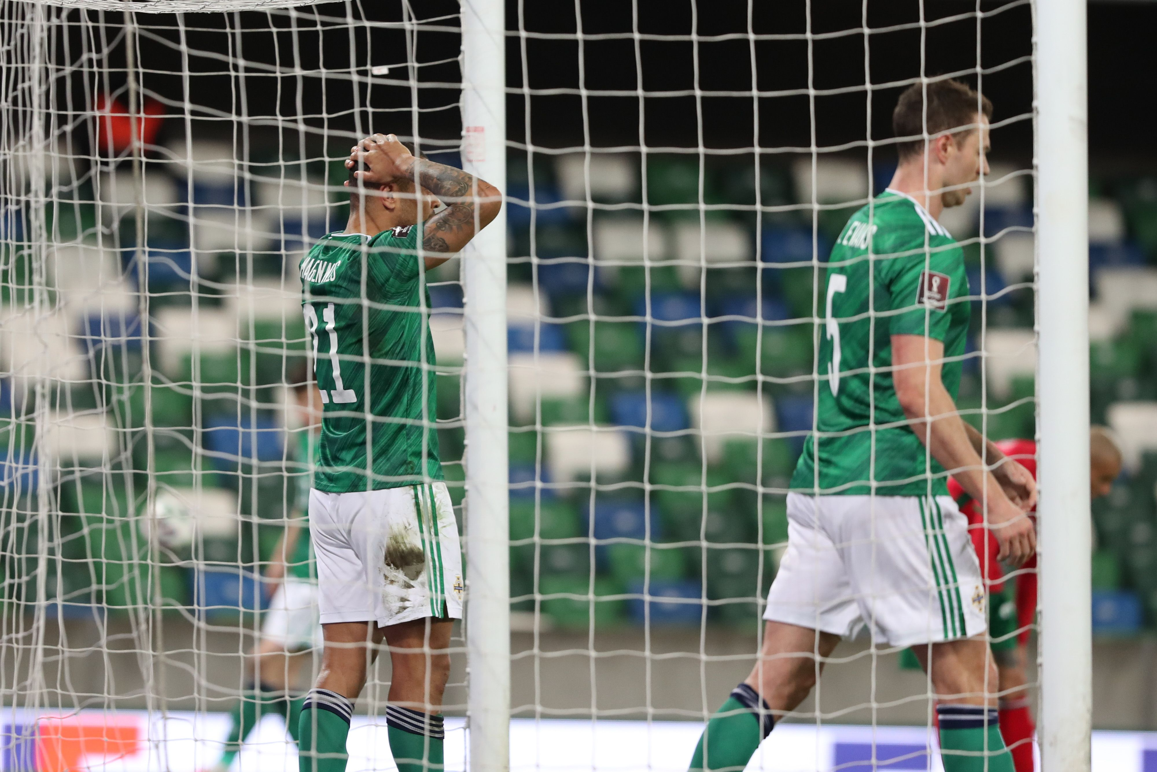 FRUSTRATION: Northern Ireland striker Josh Magennis reacts after going close to scoring