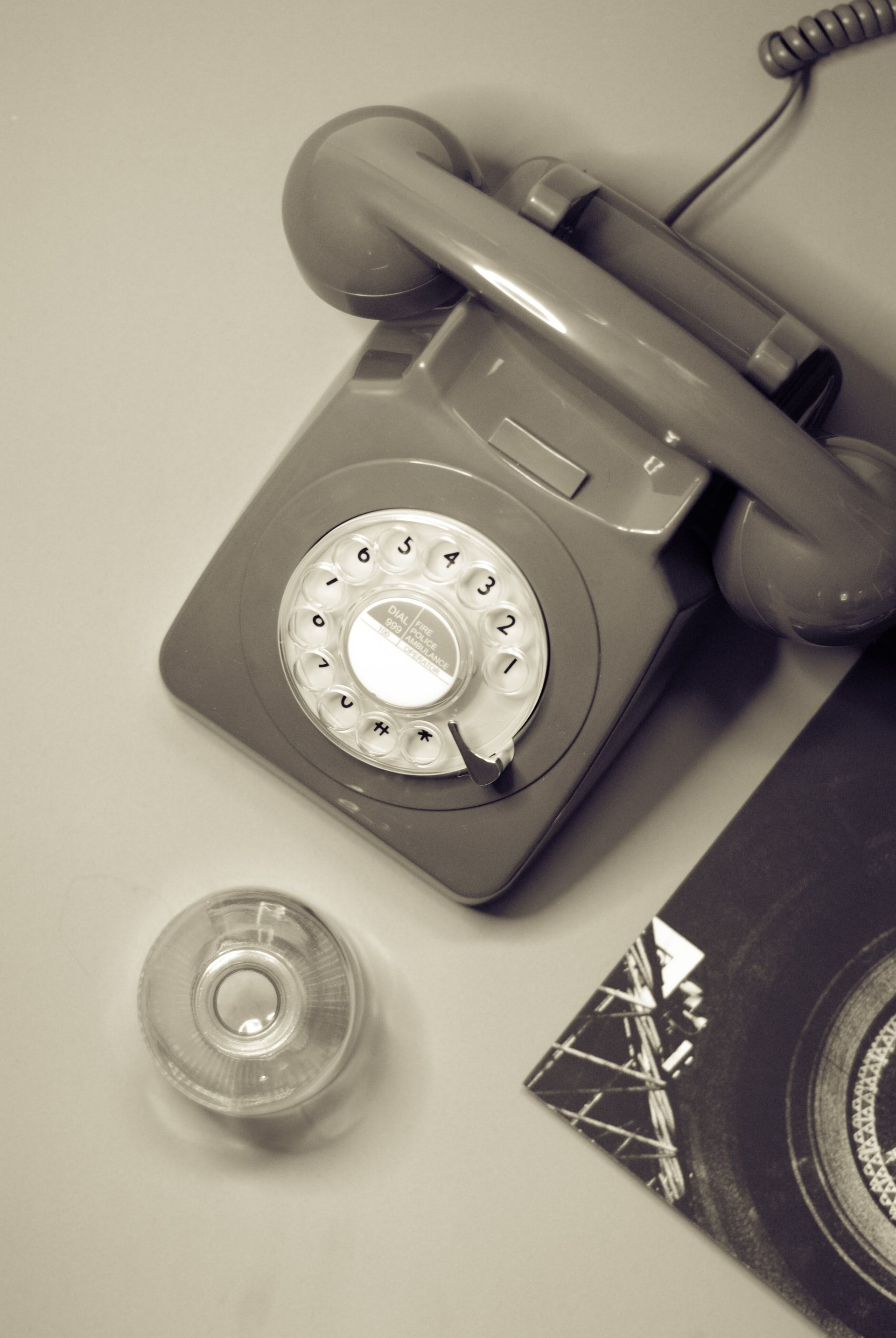 """FIRST PHONES: \""""Our father forbade us to answer the phone unless we were definitely expecting a call.\"""""""