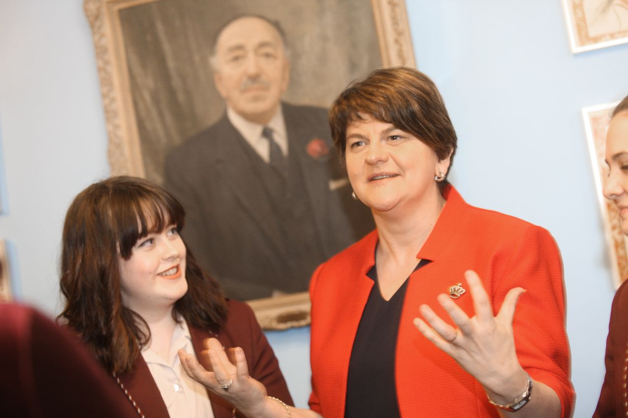 DEPARTURE: First Minister Arlene Foster said she'll leave the North in the event of a United Ireland