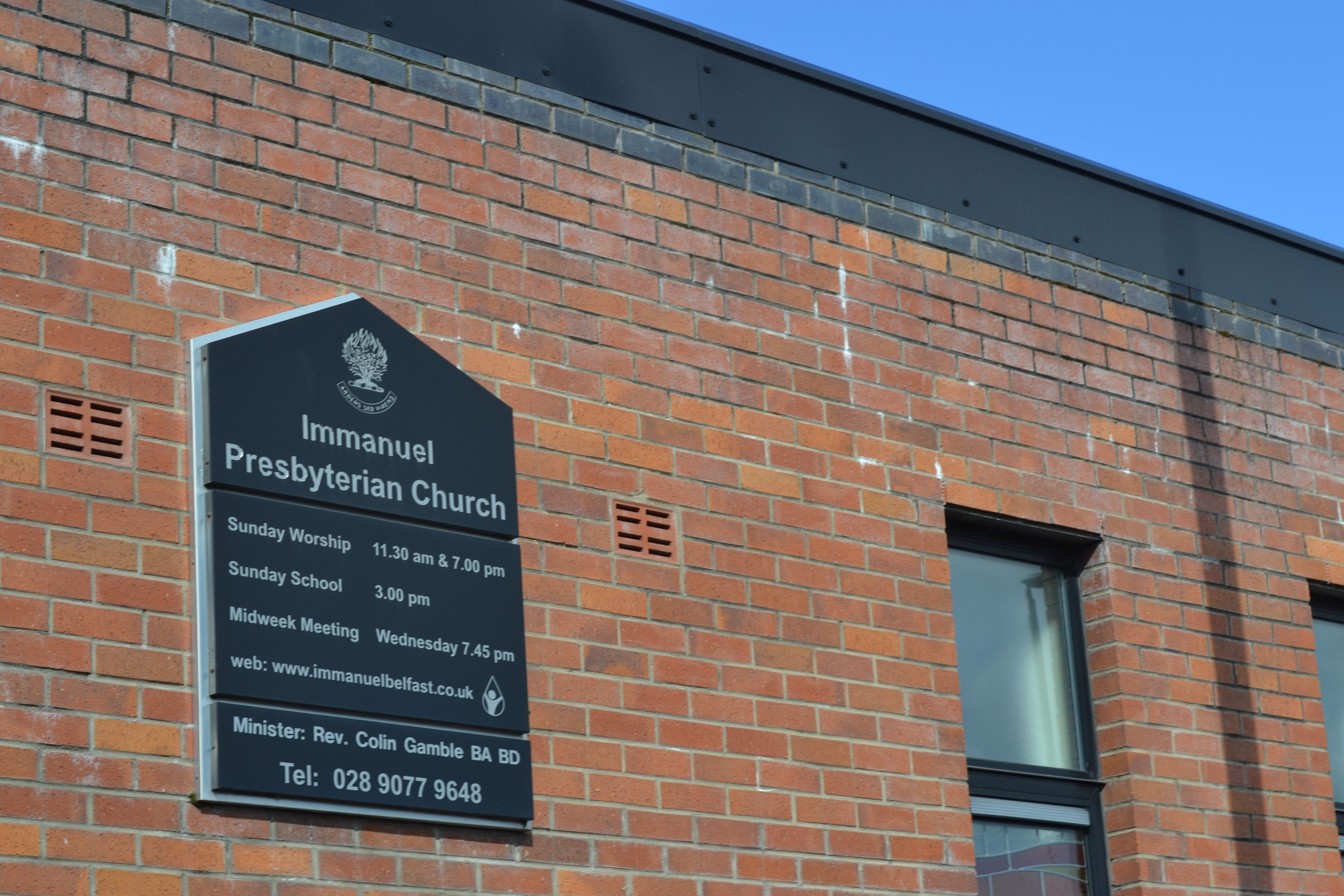 WARM SHANKILL WELCOME: Immanuel Presbyterian Church
