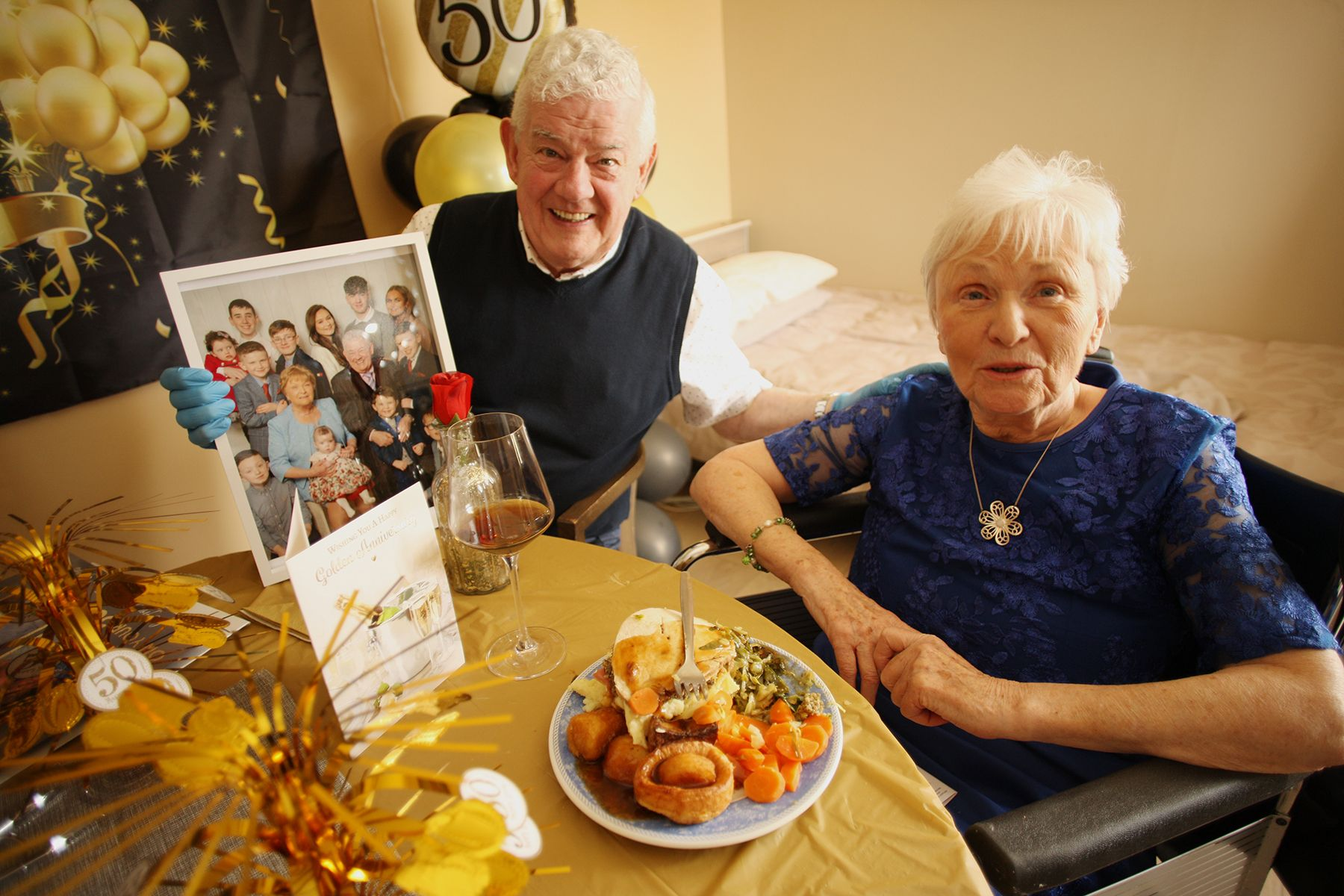GOLDEN COUPLE: Liam and Rosemary Carson mark 50 years of marriage at Kilwee Care Home