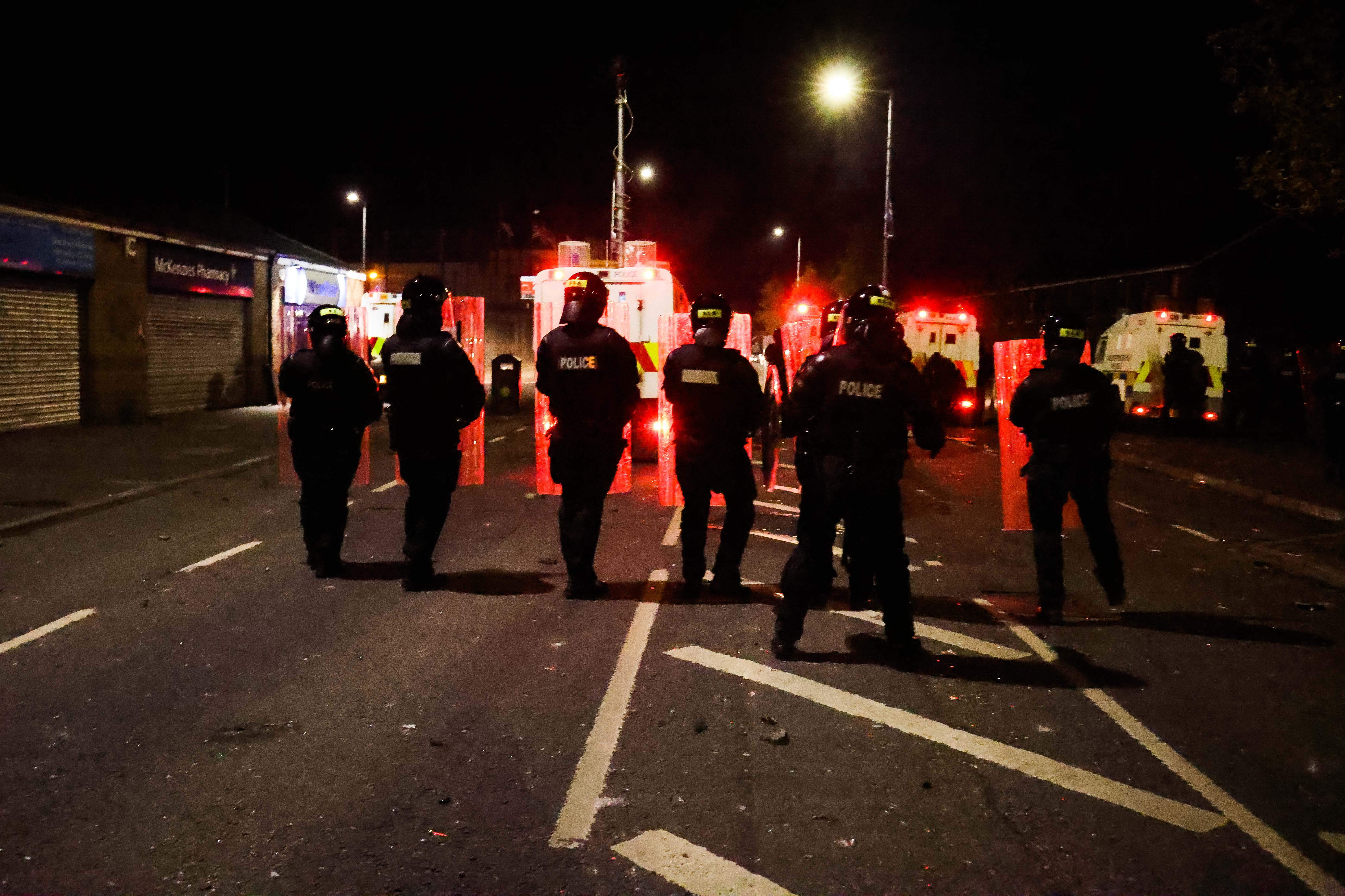 FACING UP TO CHANGE: Police come under attack from loyalists in Tigers Bay on Friday night