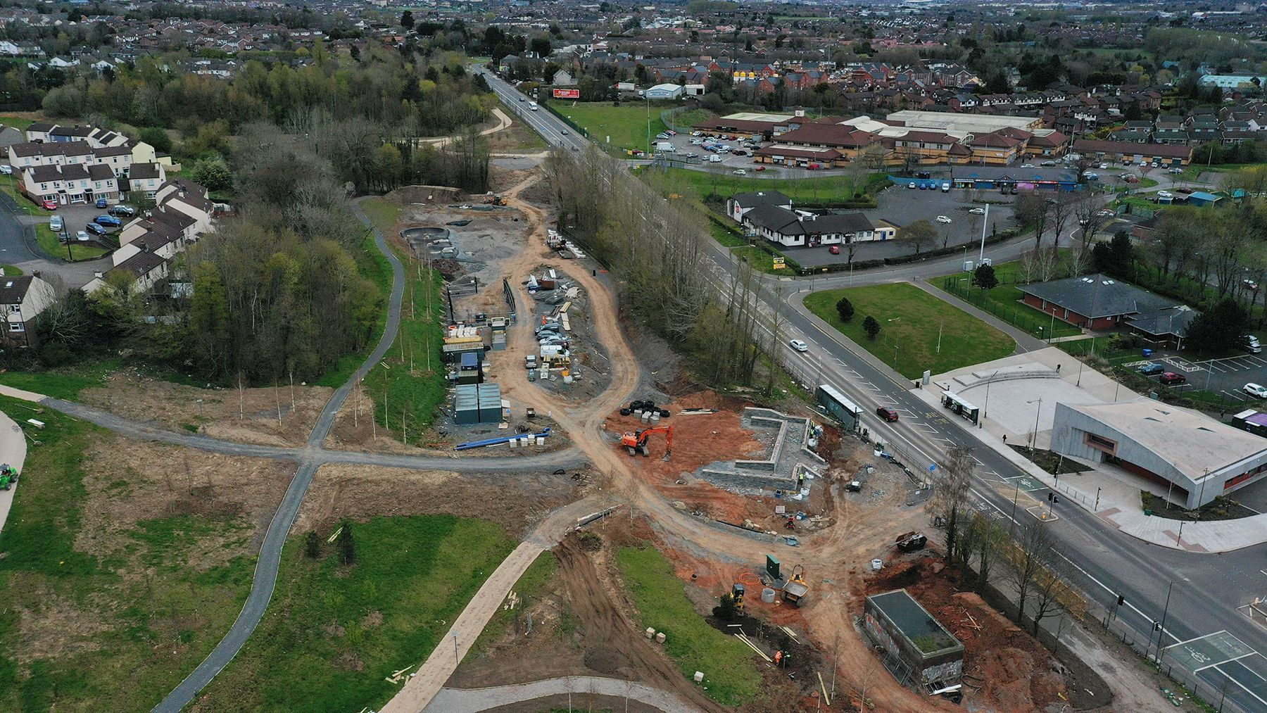VAST: Work on the new park is progressing well on the 17-acre site on Stewartstown Road