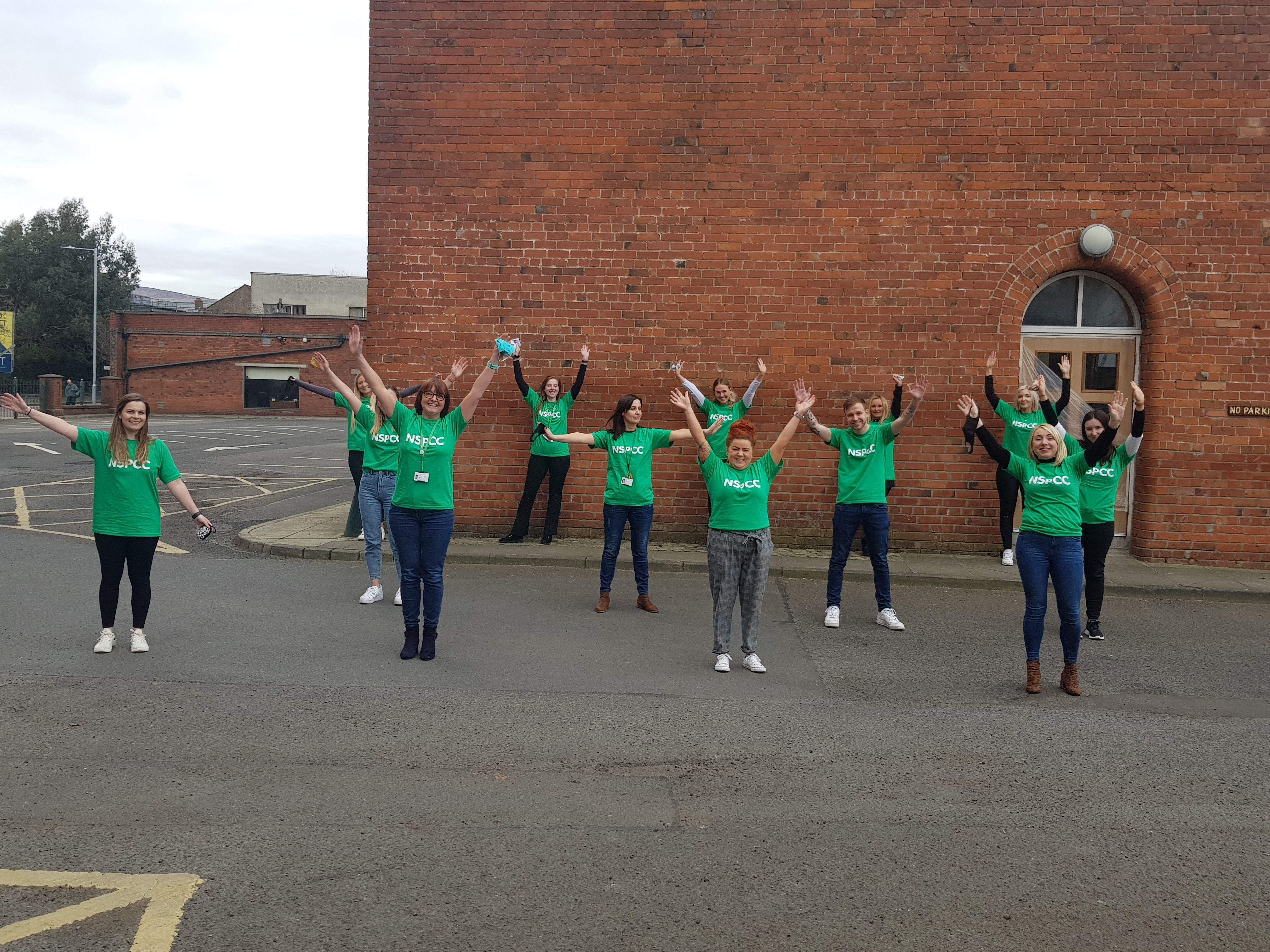 KEEPING FIT AND RAISING FUNDS: The NSPCCHelpline team in Belfast