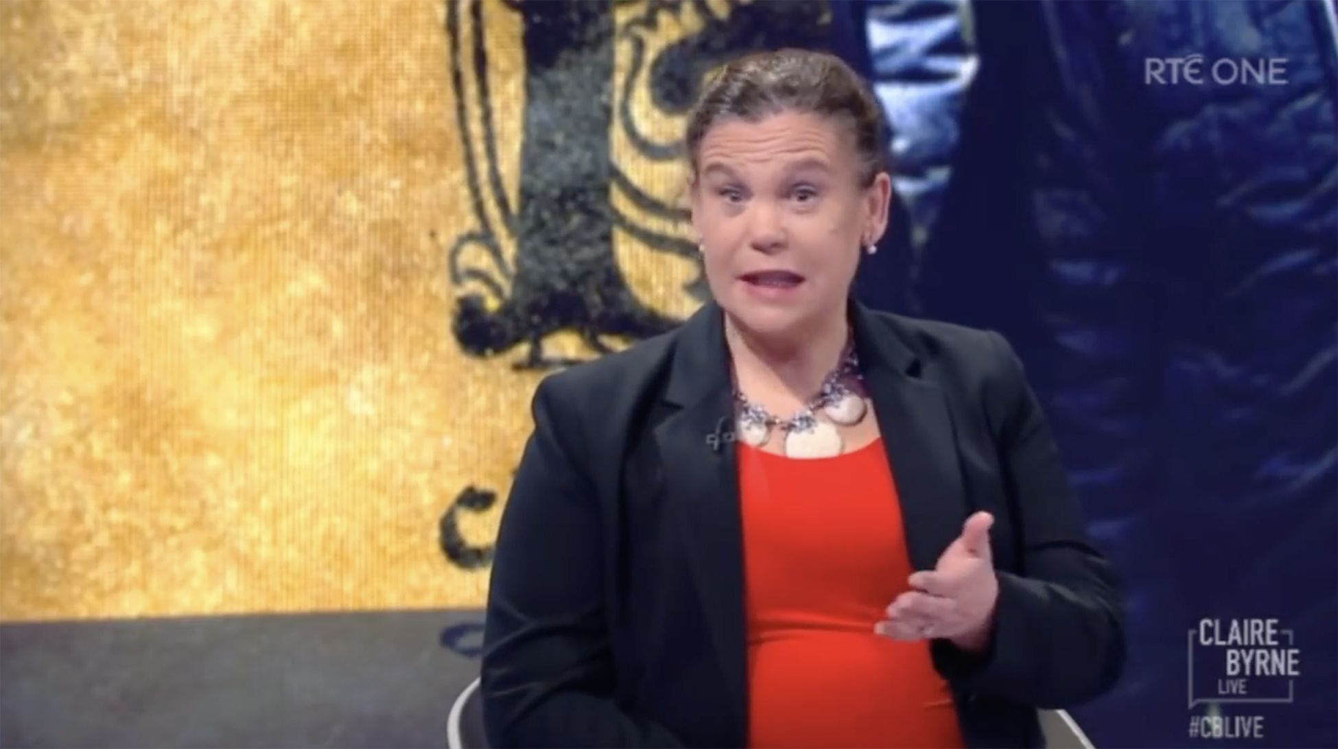 'WIDELY WELCOMED': Mary Lou McDonald debated the merits of a united Ireland with Tánaiste Leo Varadkar on RTÉ's Claire Byrne Live