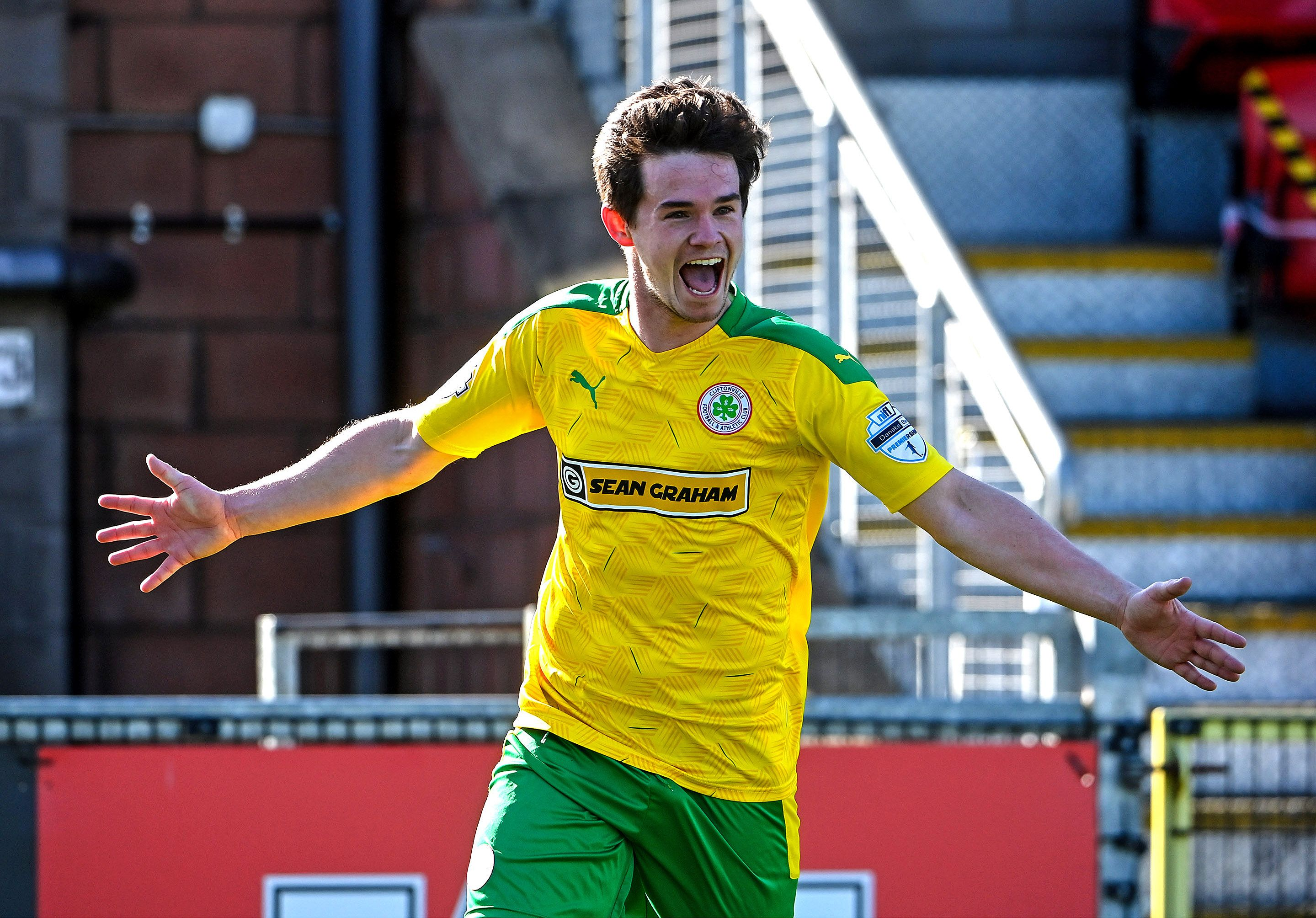 Michael McCrudden scored a hat-trick during Cliftonville\'s empathic 5-0 win over Carrick Rangers at Solitude on Saturday