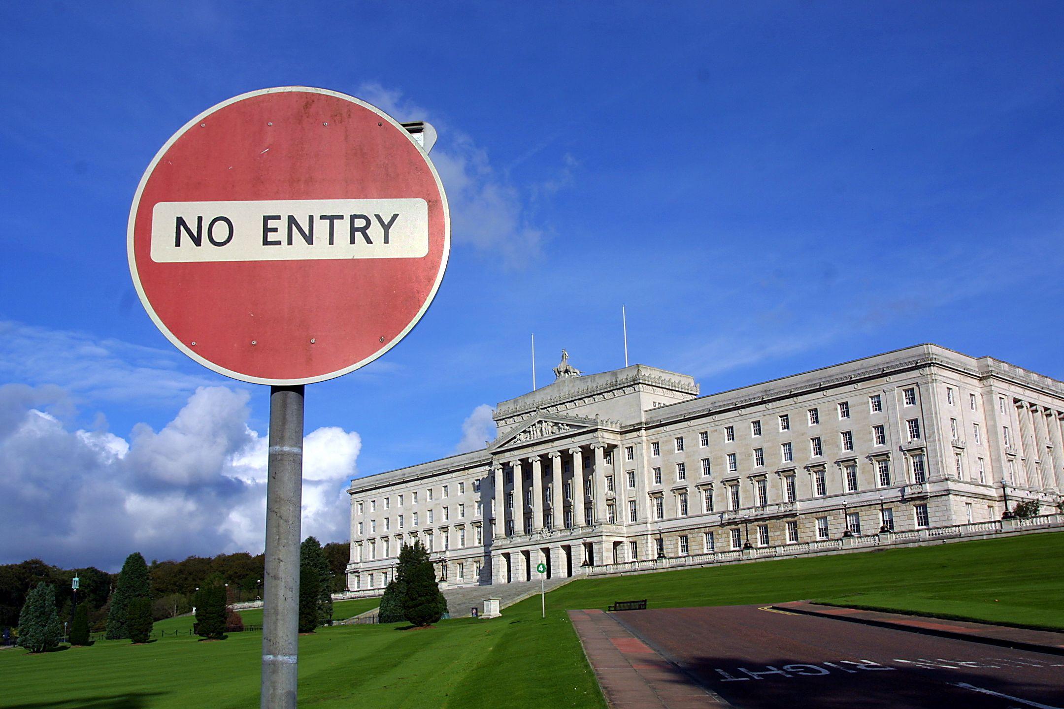 "\""UNCERTAIN TIMES AHEAD: Parliament Buildings at Stormont."