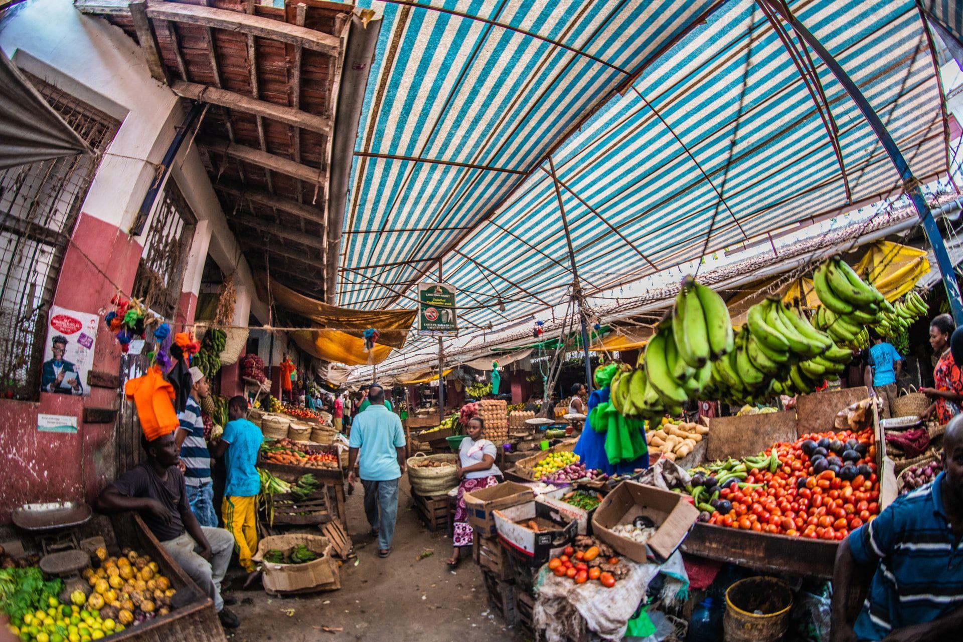 TOUGHER PROTOCOLS IN AFRICA: A market in Lamu, Kenya.