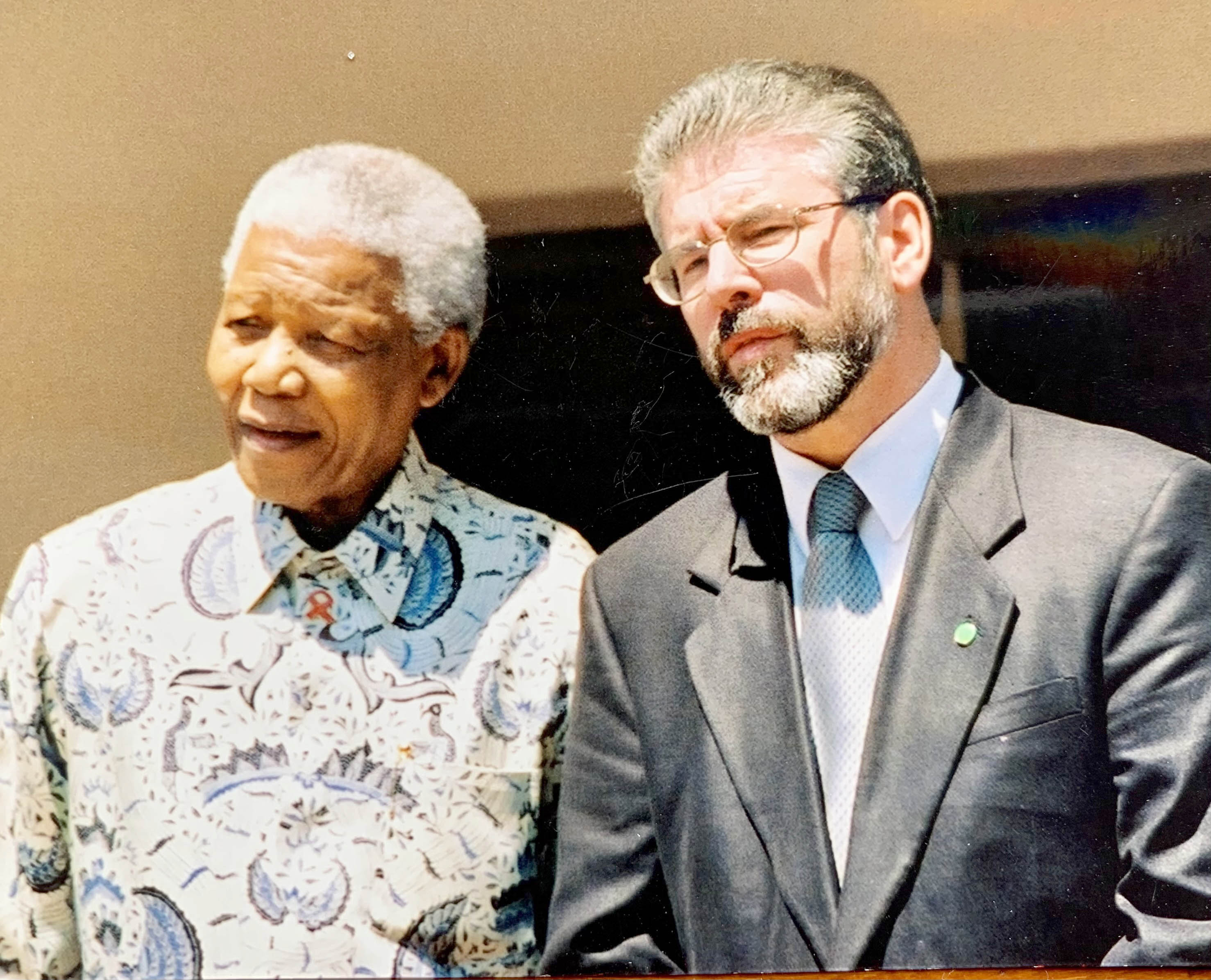 LONG ROAD TO FREEDOM: Nelson Mandela and Gerry Adams.