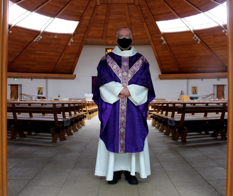 FAITHFUL ISOLATED:Father Patrick Sheehan is Parish Priest at St Mary's on the Hill in Glengormley