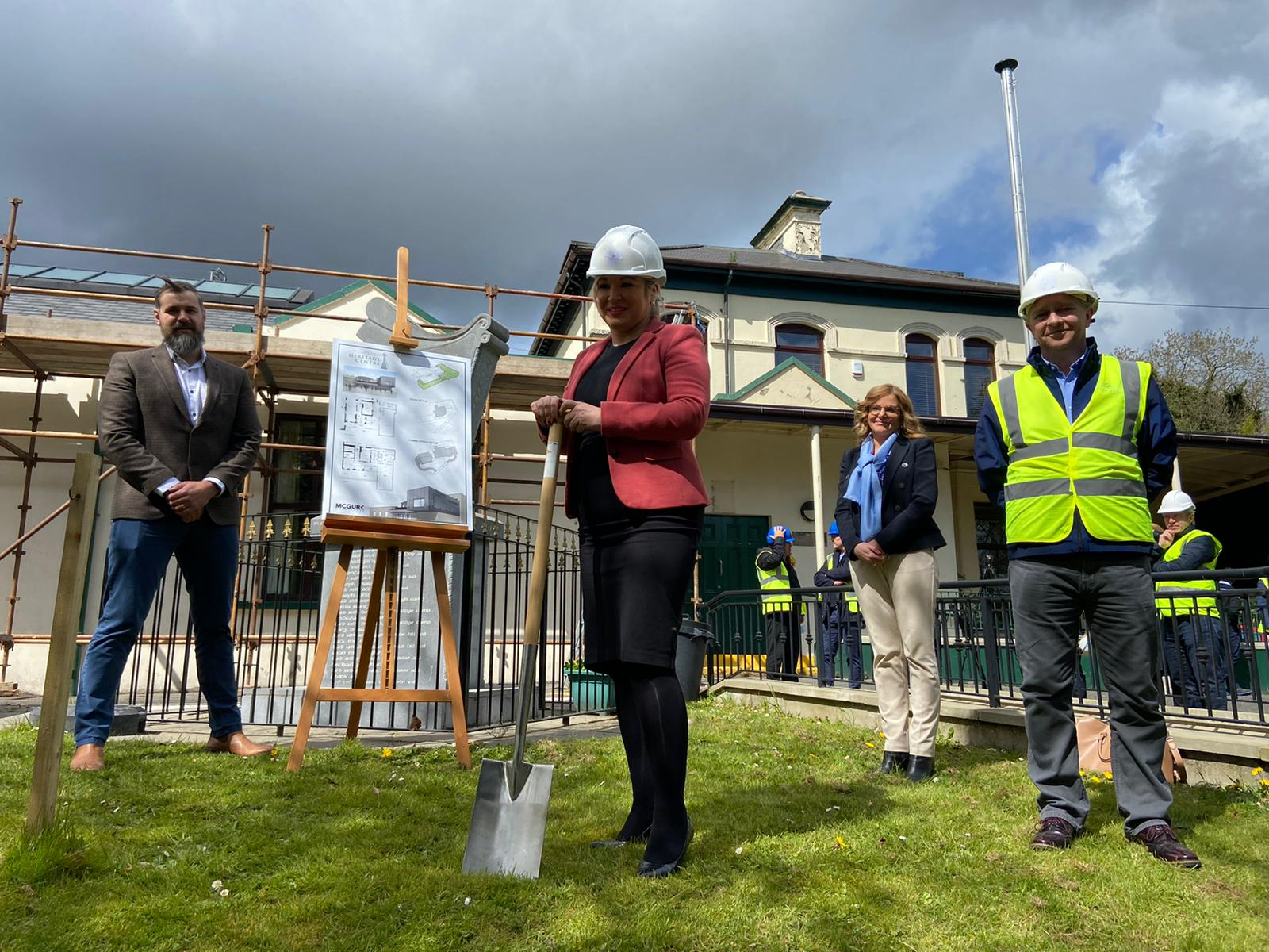 Michelle O'Neill cuts first sod at new Roddy McCorley Heritage Centre