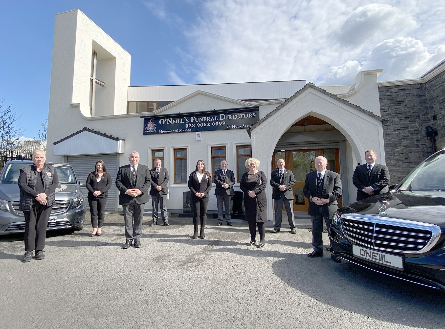 THIRTY YEARS SERVING THE COMMUNITY: The professional and highly trained team at O'Neill's Funeral Directors who are marking thirty years in the business and would like to thank the thousands of families who trusted them and gave them the honour of looking