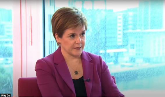 SETTING COURSE FOR INDEPENDENCE: Nicola Sturgeon asking probing question of nature of UK union.
