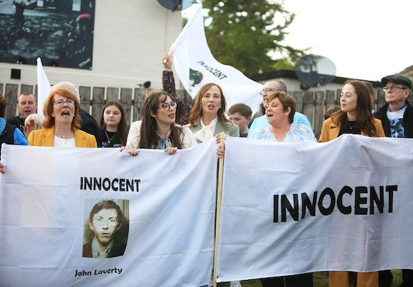 JUBILATION: Families celebrate in Ballymurphy during emotional scenes