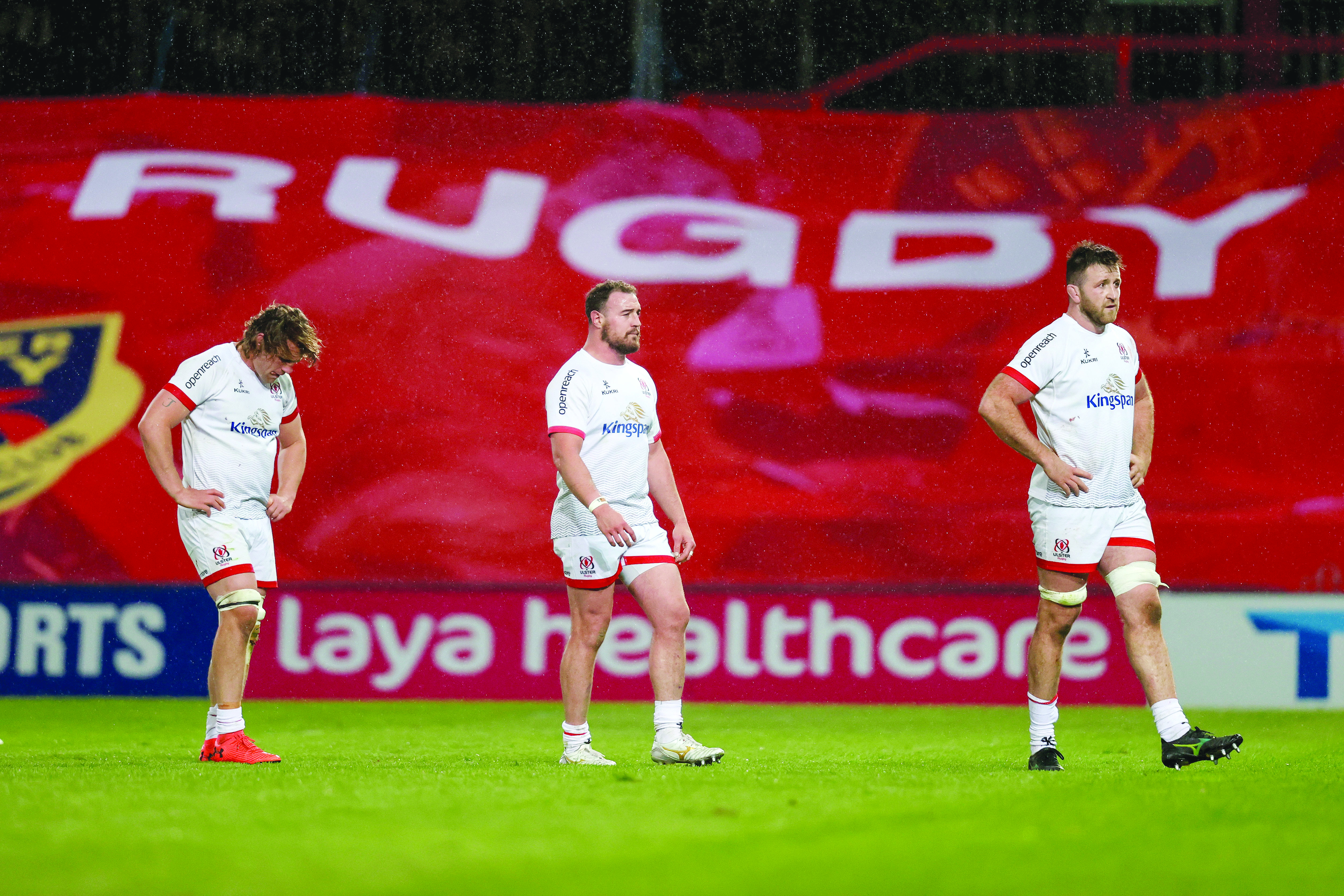 Jordi Murphy, Rob Herring and Alan O\'Connor trudge off the Thomond Park pitch last week as defeat to Munster all but ended their Rainbow Cup hopes, so pride is at stake when they face Leinster at the RDS this evening (Friday)