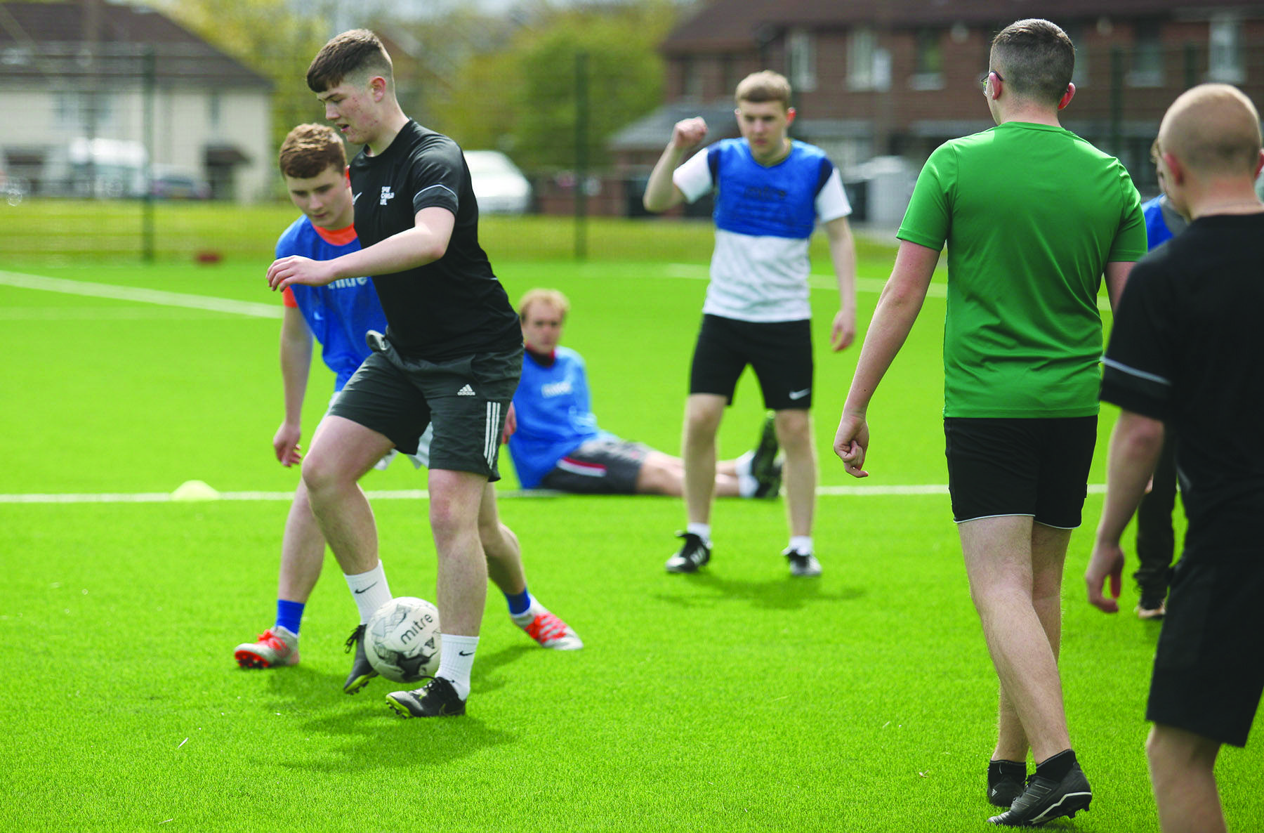 La Salle pupils are put through their paces last week