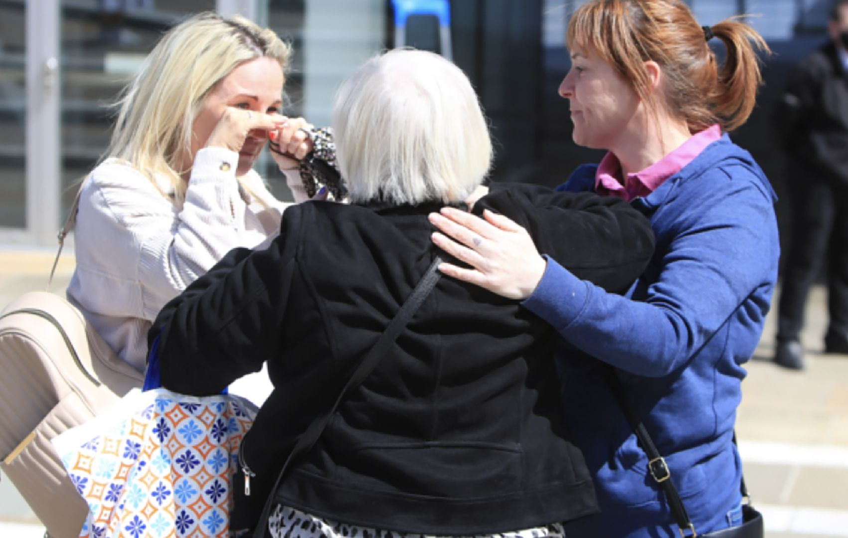 RELIEF: Emotions were running high after the Coroner's ruling that the victims of the Ballymurphy Massacre were innocent