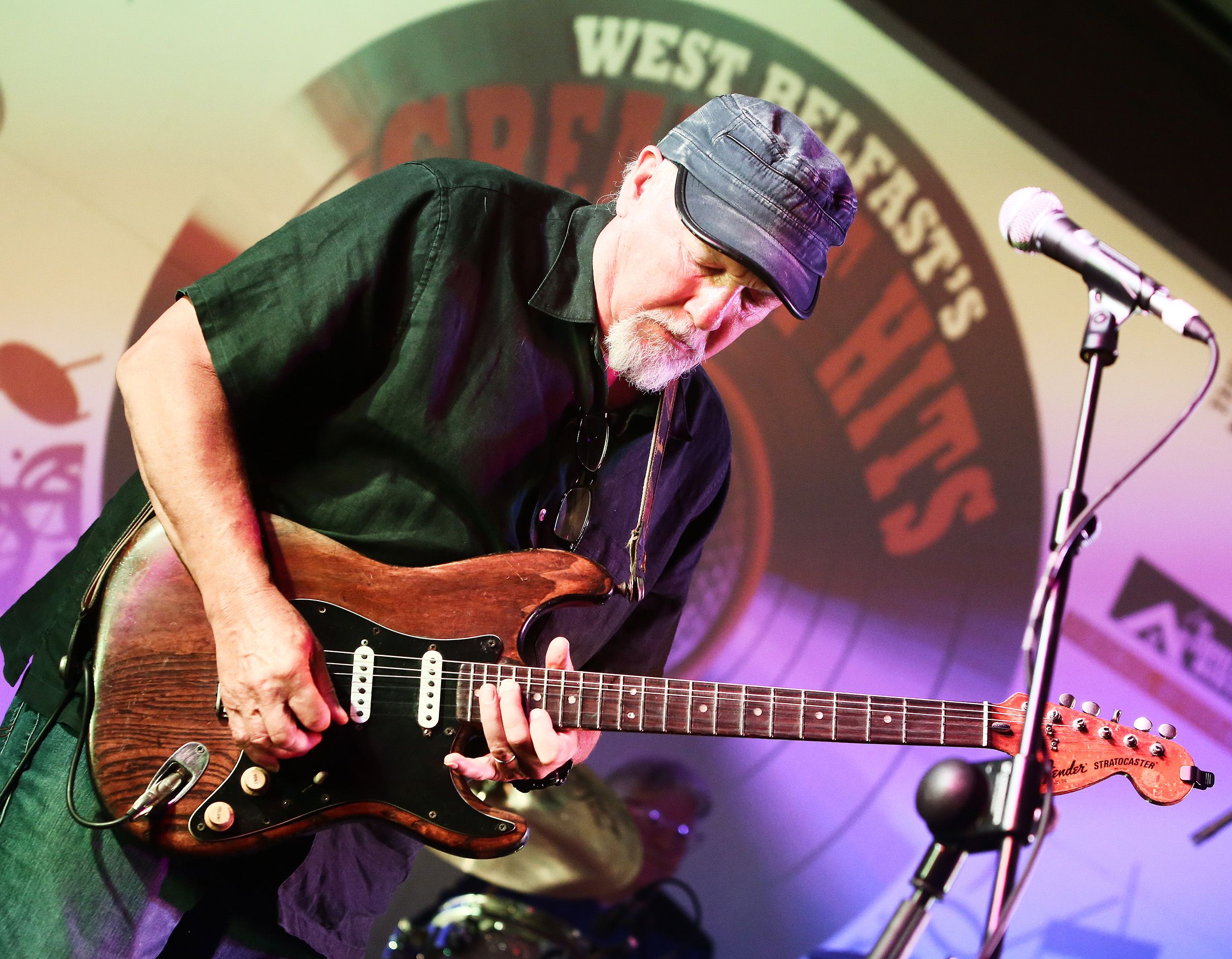 ON FORM: Guitarist Rab McCullough passed away at the weekend