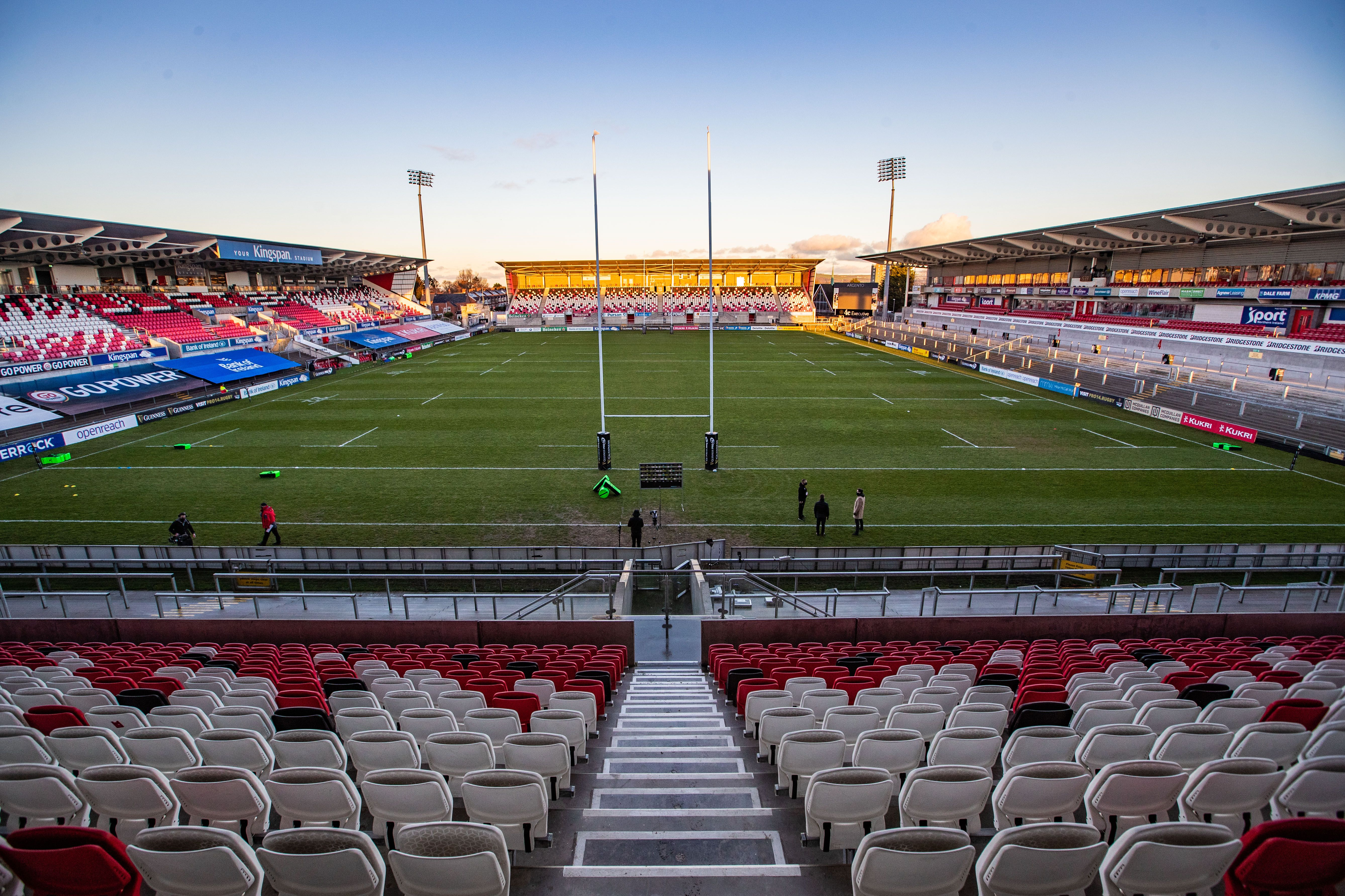 Ulster were due to welcome 500 fans to the Kingspan Stadium tomorrow