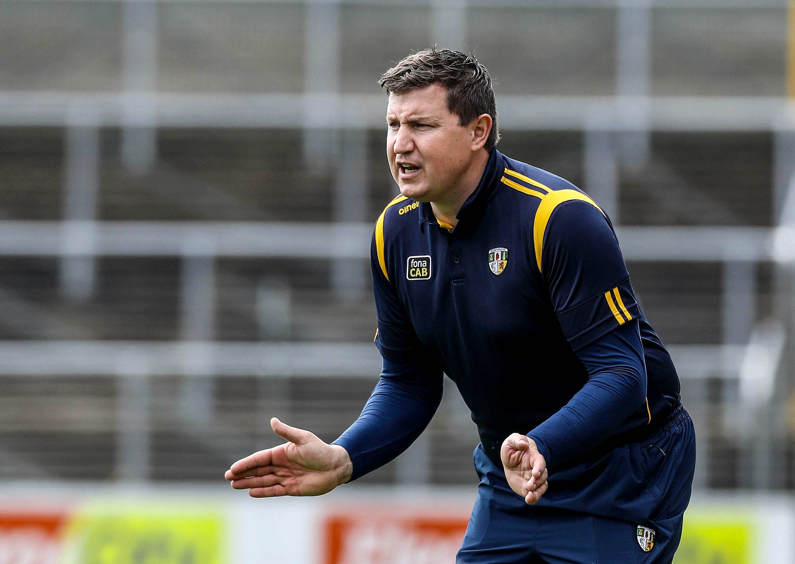 Antrim manager Darren Gleeson says he is delighted with the response of the players following their defeat to Dublin a fortnight ago