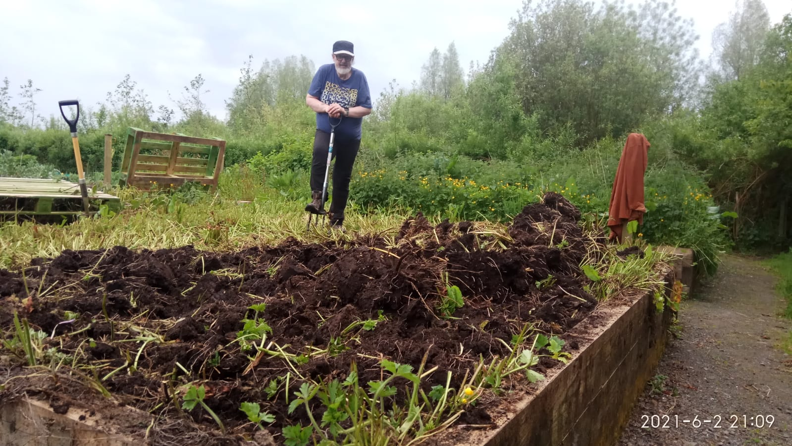 """FARMER FRANK: Getting an allotment at Colin was like \""""winning the lottery\""""."""