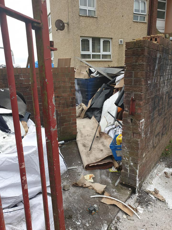 DISRESPECT: Empty flats on Corrib Avenue are being targeted by fly-tippers