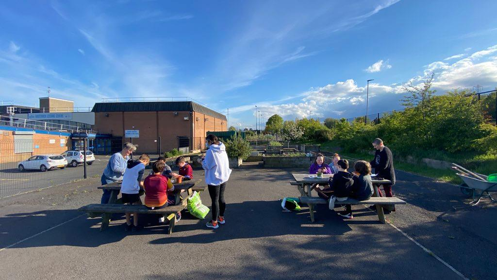 FROM LITTLE SEEDS: Young people learning new skills at The People\'s Garden