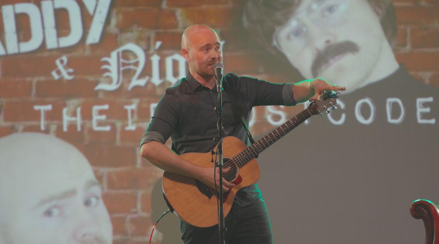 FUNNYMAN: West Belfast comedian Paddy Raff