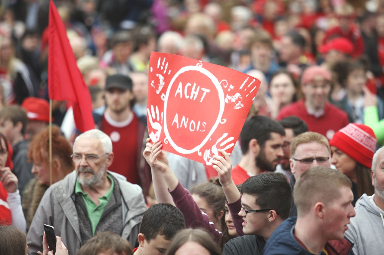 ACHT ANOIS: The Irish Language community has long campaigned for legislation contained in successive Stormont agreements