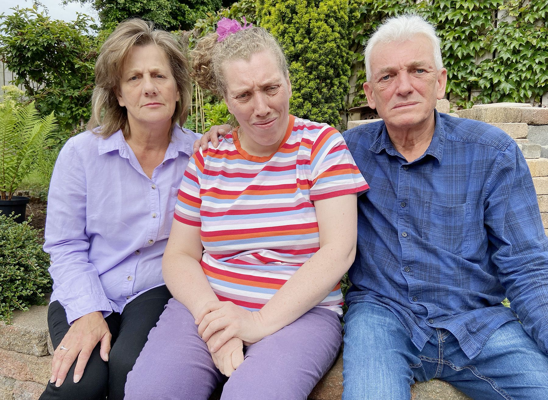 LOCKED IN: Marjorie and Mark Sharp say their daughter Laura was kept in her flat for 23 and a half hours a day