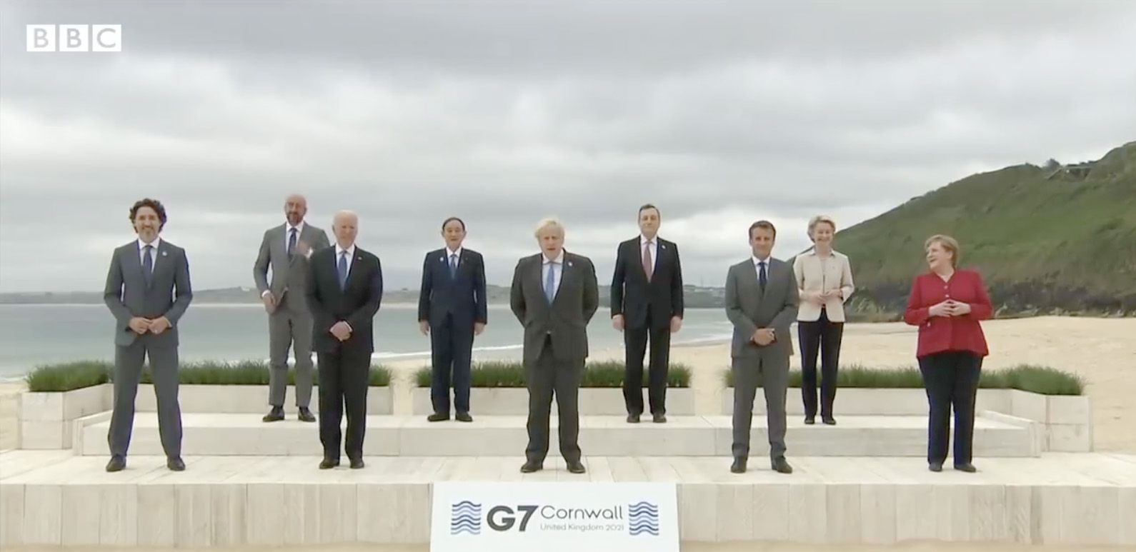 G7: Emmanuel Macron is said to have upset British Foreign Secretary Dominic Raab with comments he made on our geographical state