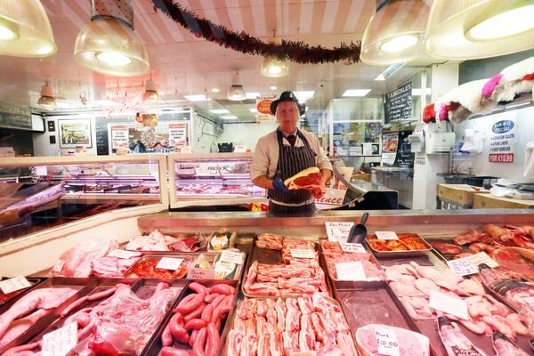 CHILLED MEATS CLIFF EDGE: Dublin butcher John Collins in his Moore Street shop