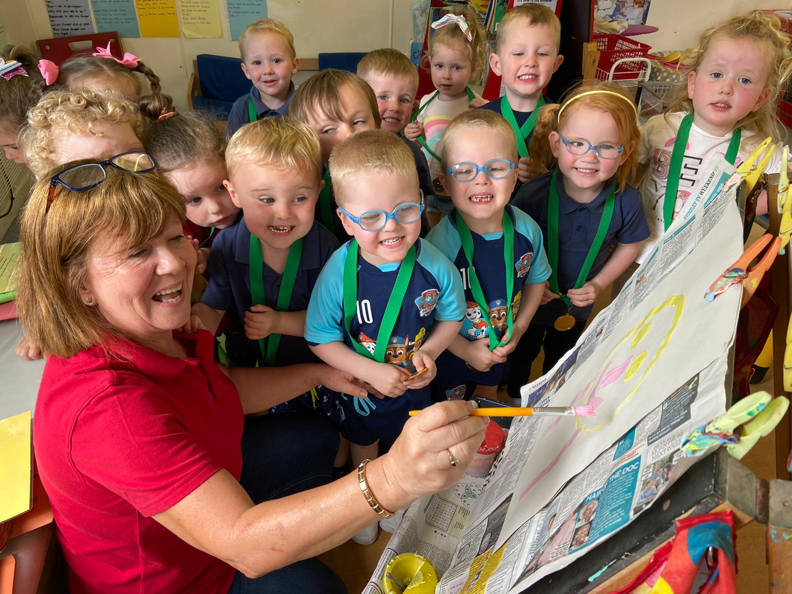 END OF AN ERA: Principal Annmarie Toner has hung up her paintbrush and waved goodbye to the children for the final time as she retires and the playgroup closes