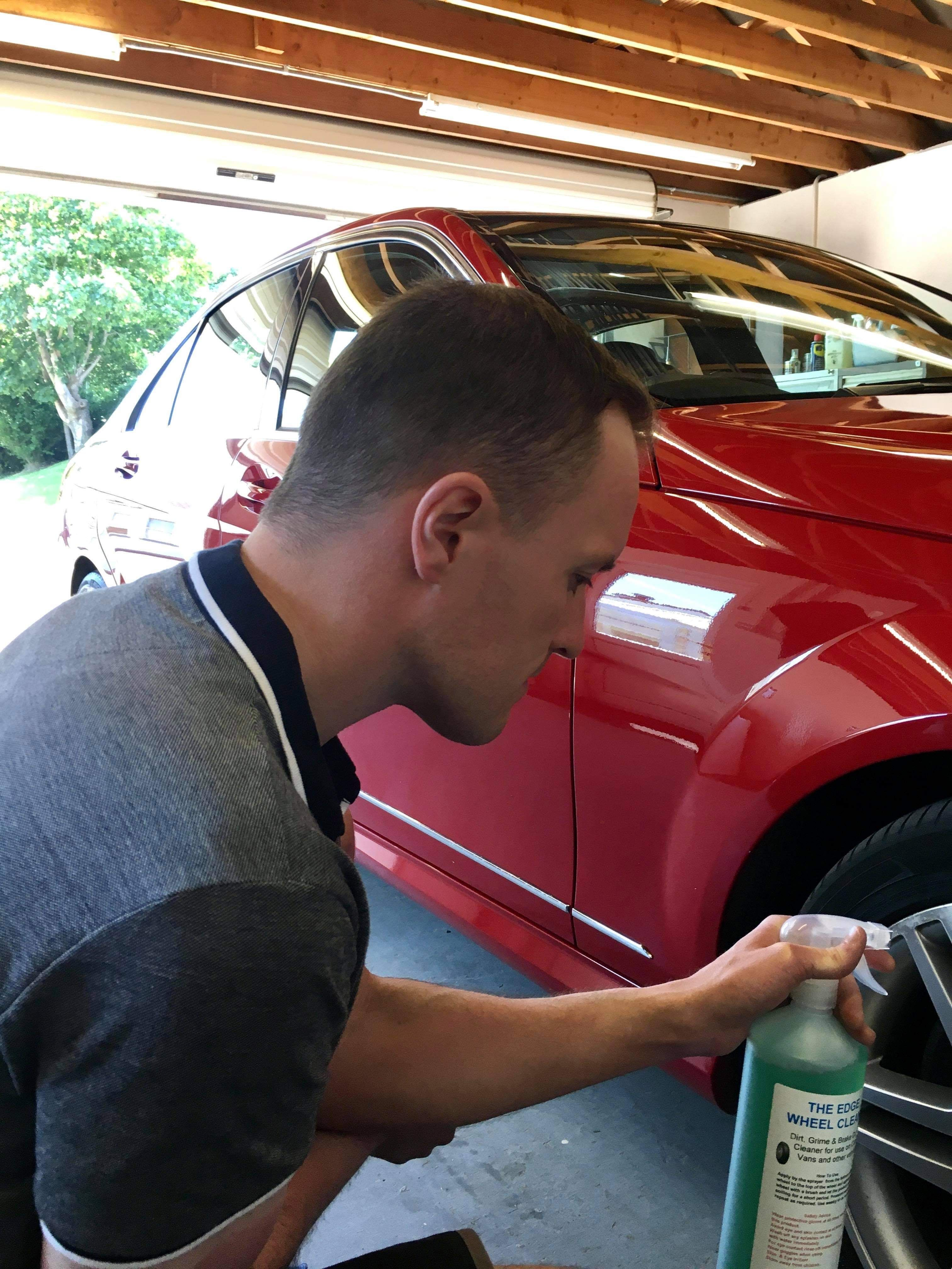 BUSINESS REVAMP: Daniel Dunn is giving car fans an added edge with new cleaning product.