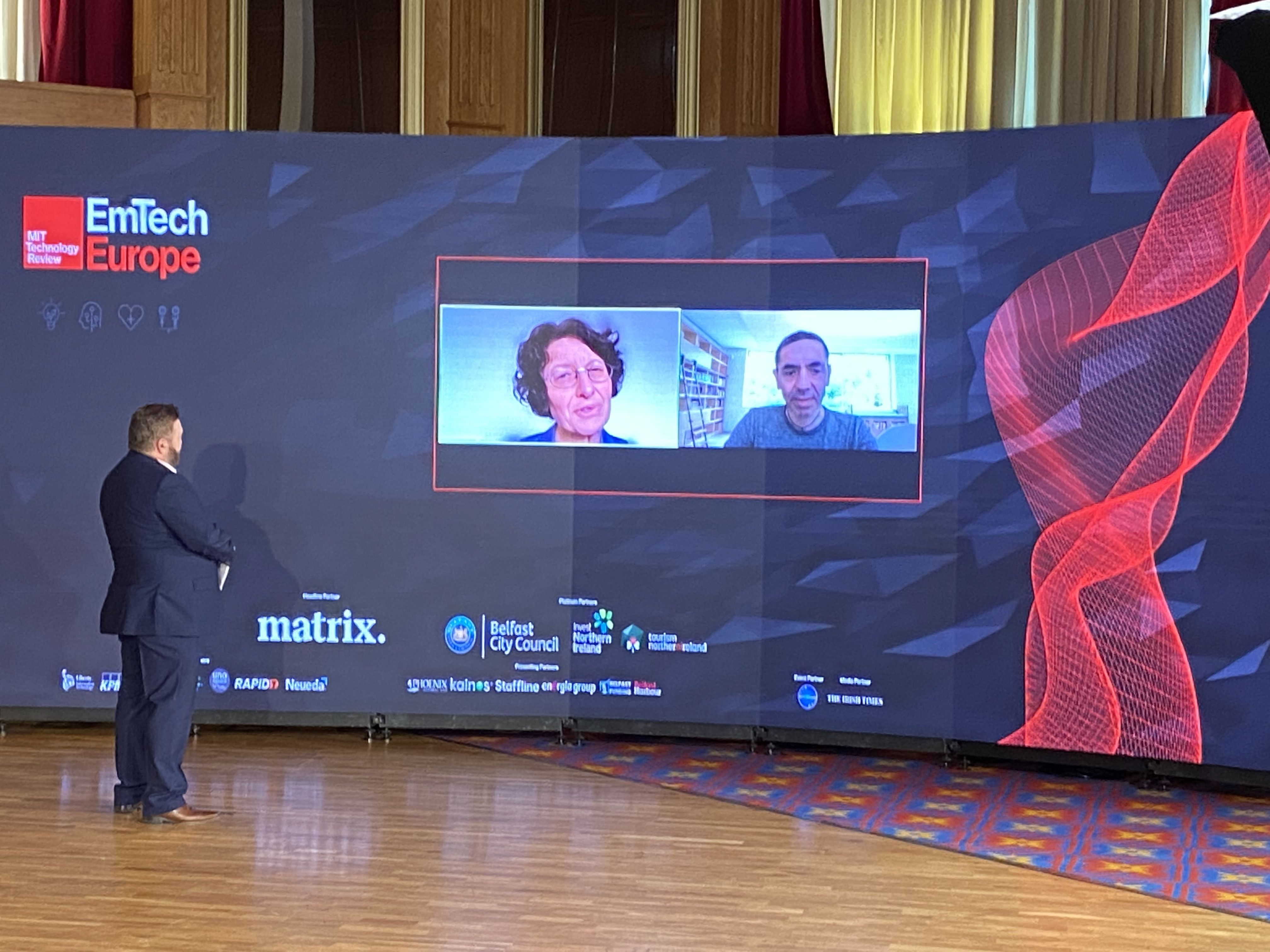 KNOWLEDGE CAPITAL: Broadcaster William Crawley interviewing BioNTech founders Özlem Türeci and Urug Sahin