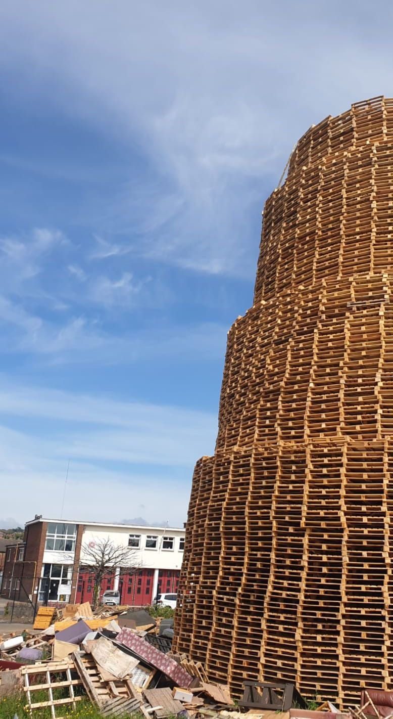 MILES AWAY: As this photograph confirms, the bonfire is quite a distance from the fire station