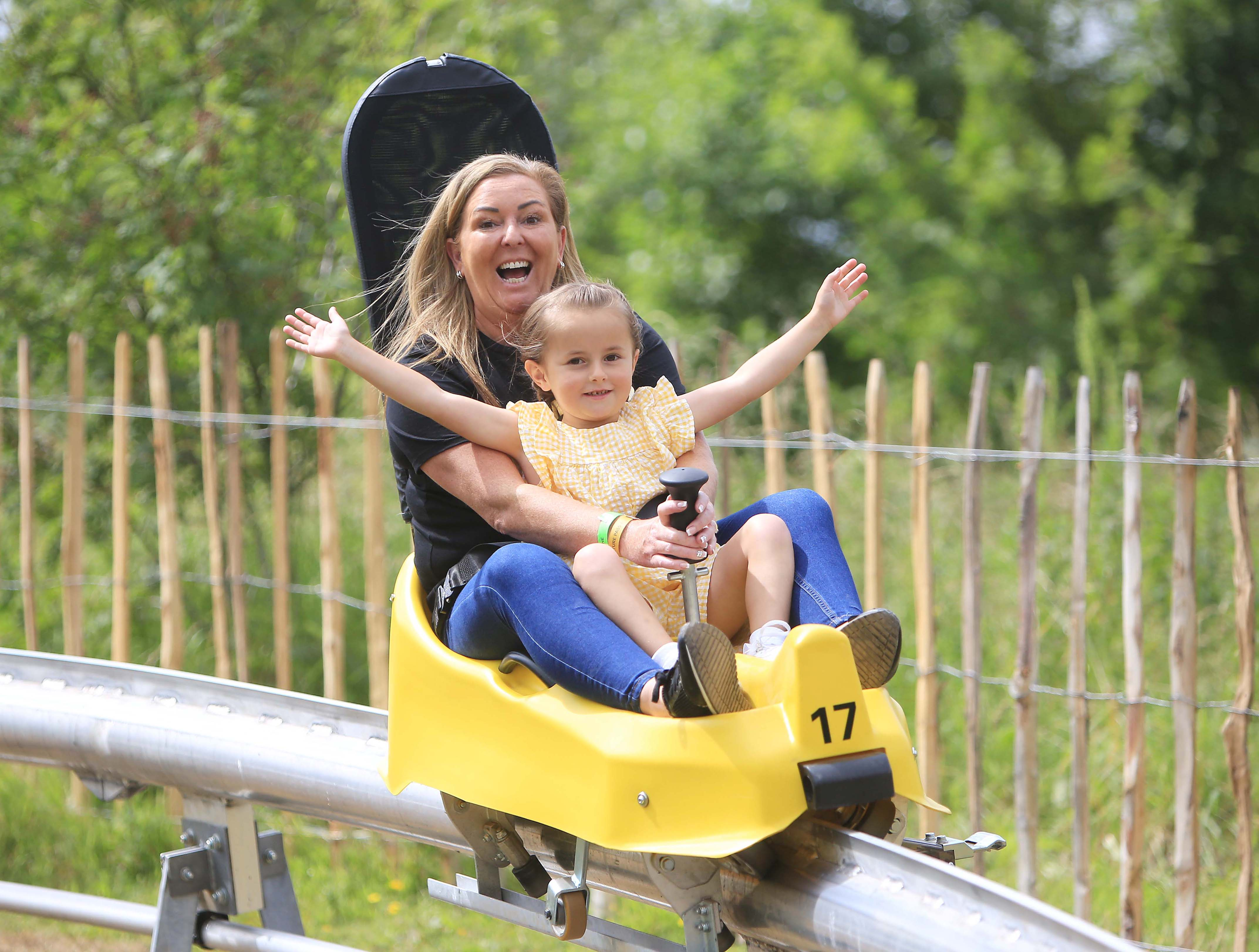 FAMILY FUN: The toboggan and ziplines form part of a £5 million investment in the park