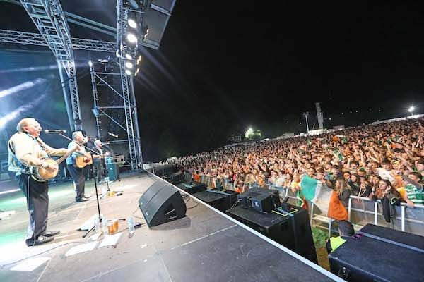 SELL-OUT CROWD: The Wolfe Tones headlining Féile an Phobail in 2019