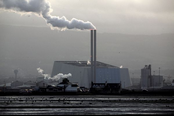 SPEWING SMOKE: The Convent waste burning plant in Dublin is surrounded by factories continuing to emit greenhouse gases despite Irish government pledges on combatting climate change.
